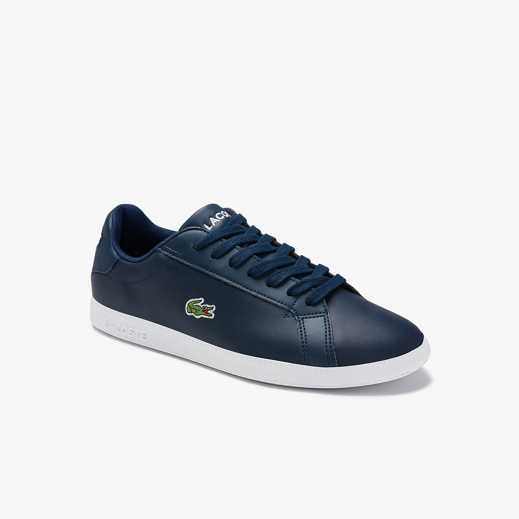 Lacoste Mens Graduate Leather and Synthetic Sneakers