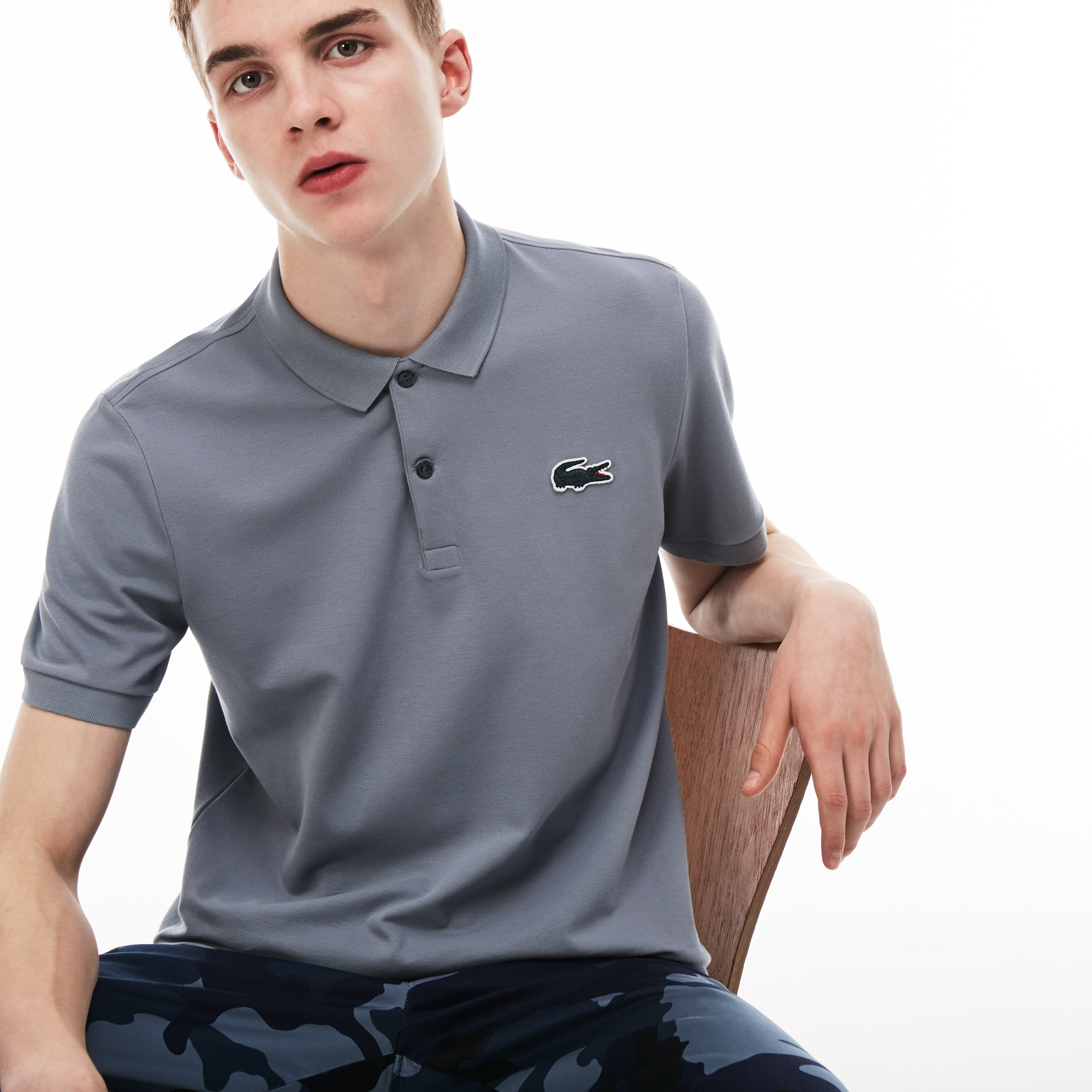Men's LIVE Slim Fit Stretch Mini Piqué Polo