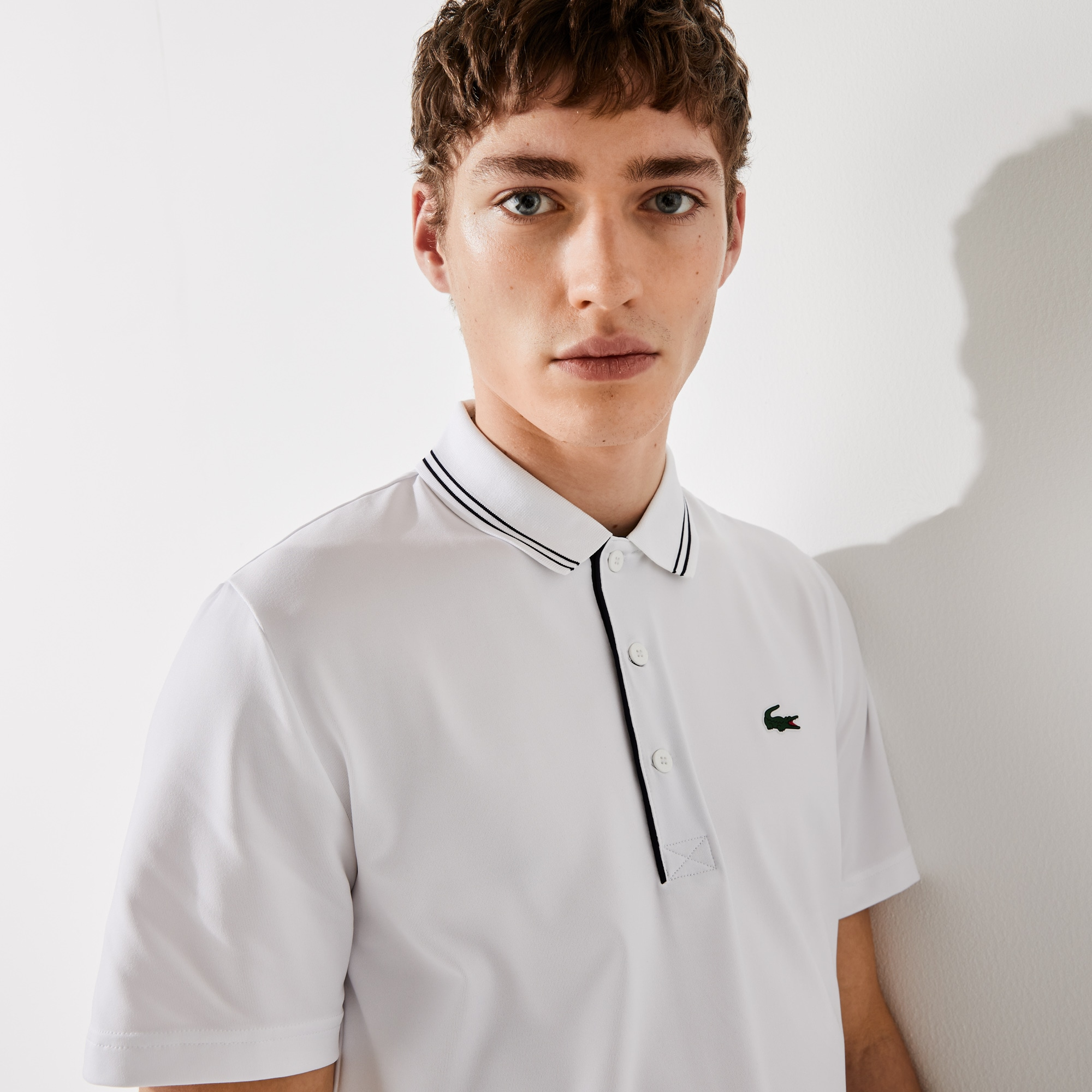 라코스테 Lacoste Mens SPORT Signature Breathable Golf Polo Shirt