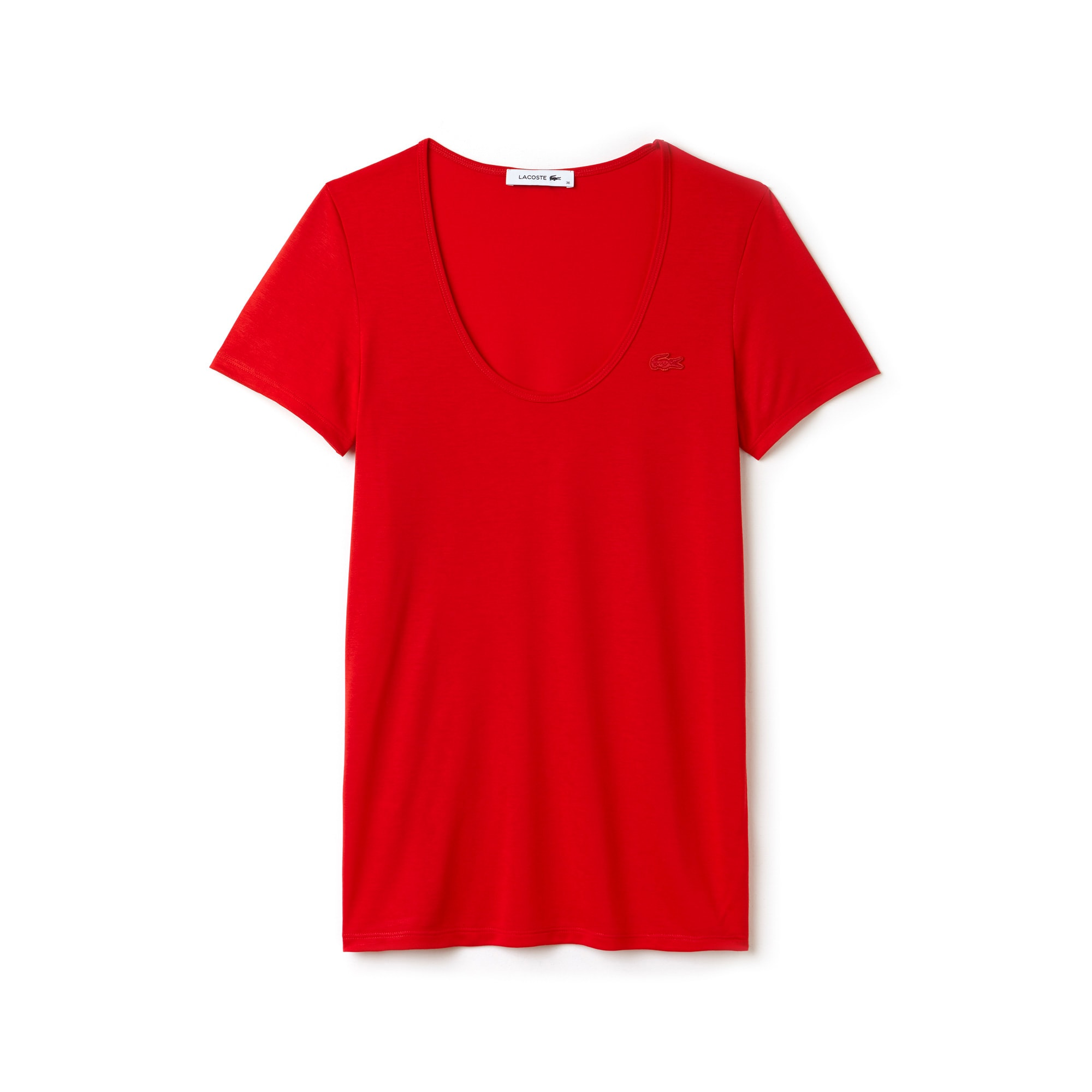 Women's Scoop Neck Flowing Jersey Blend T-shirt