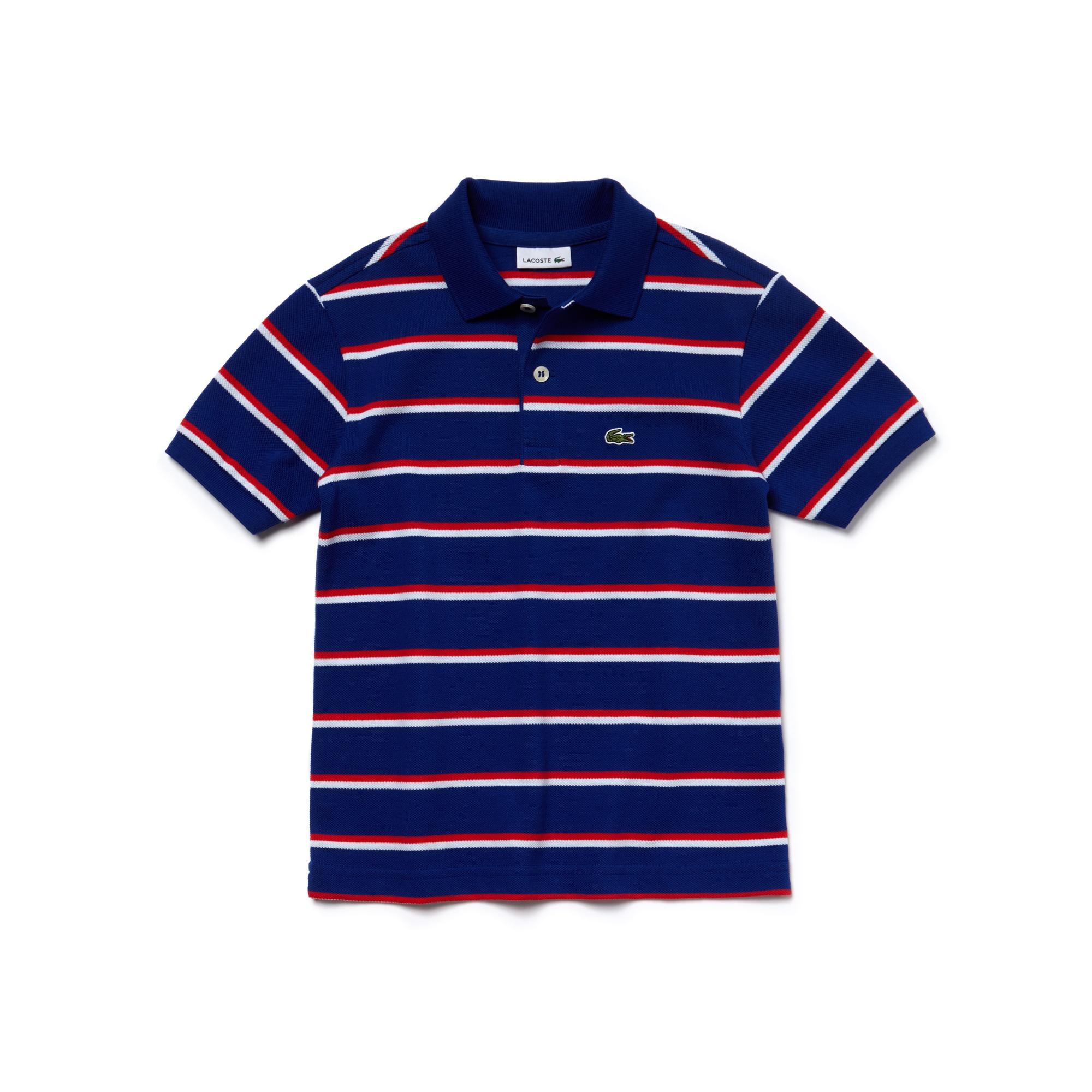 Boy's Fine Striped Piqué Polo Shirt