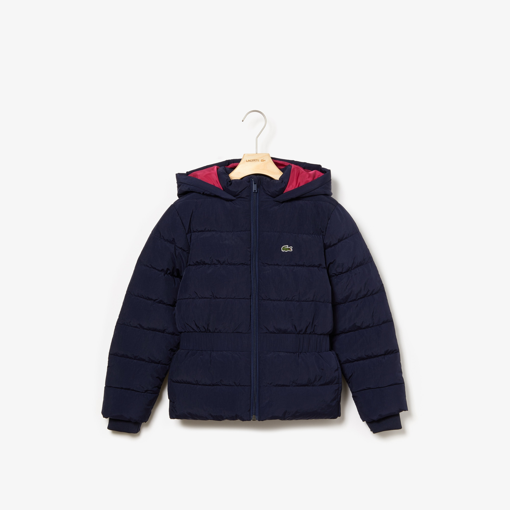 Girls' Hooded Elasticized-Waist Quilted Jacket
