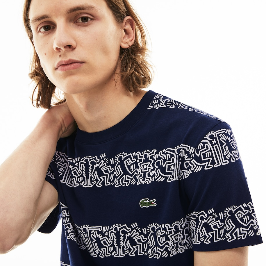 T-Shirt en coton à rayures Collab Keith Haring