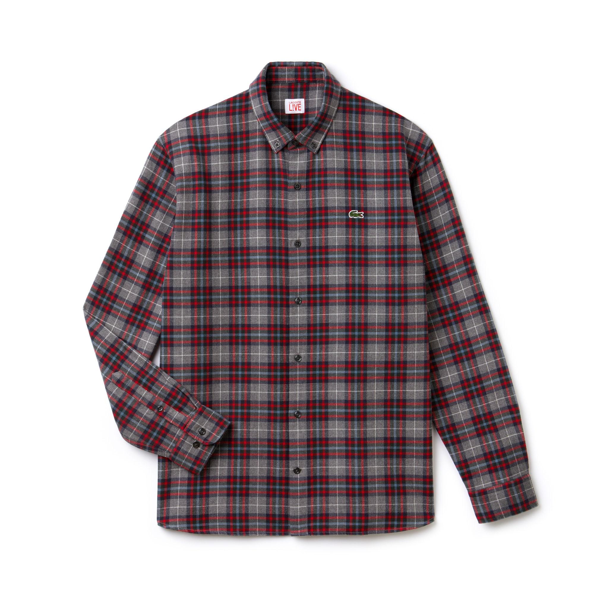 Men's LIVE Boxy Fit Check Cotton Flannel Shirt