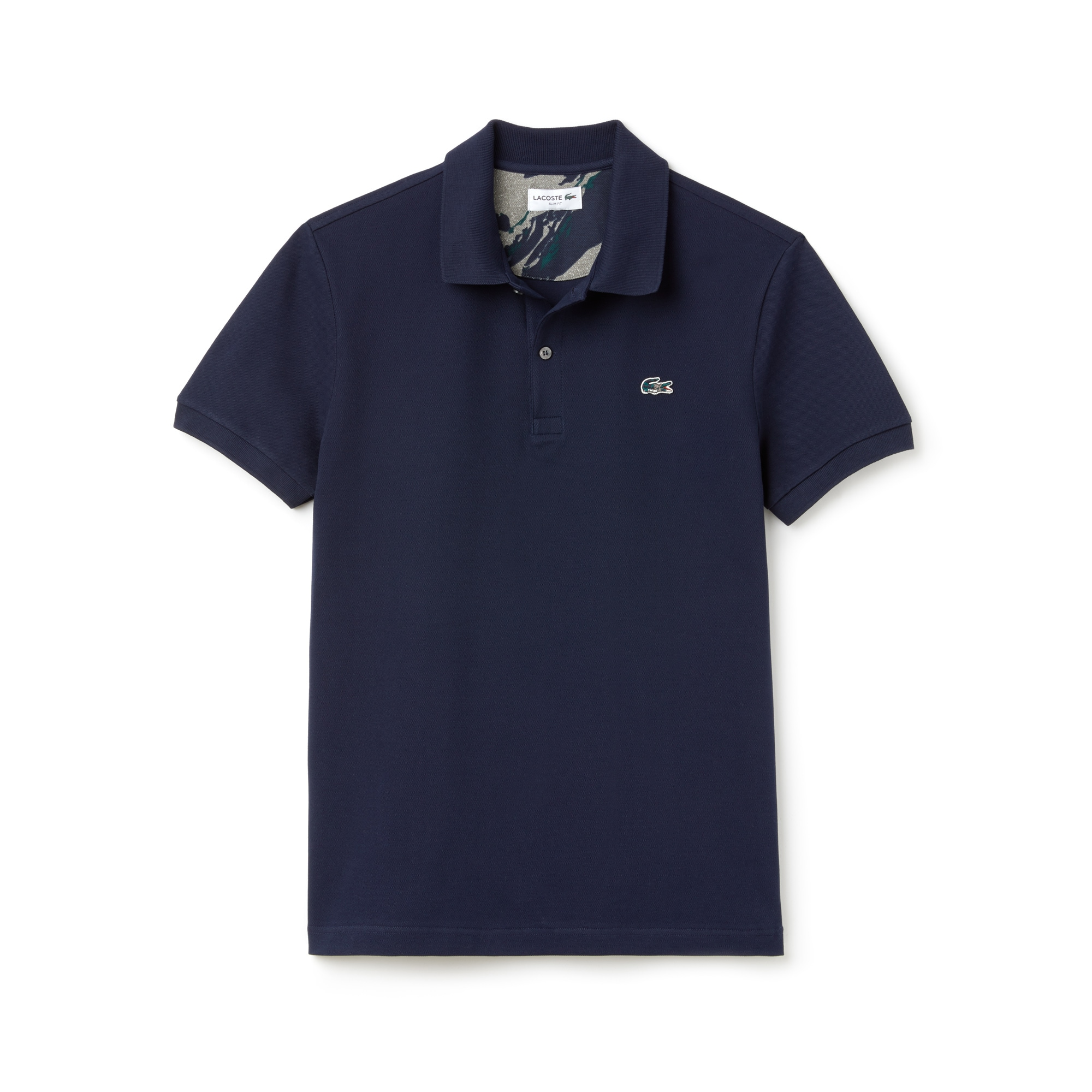 Mens 라코스테 Lacoste Slim Fit Stretch Mini Pique Polo,navy blue