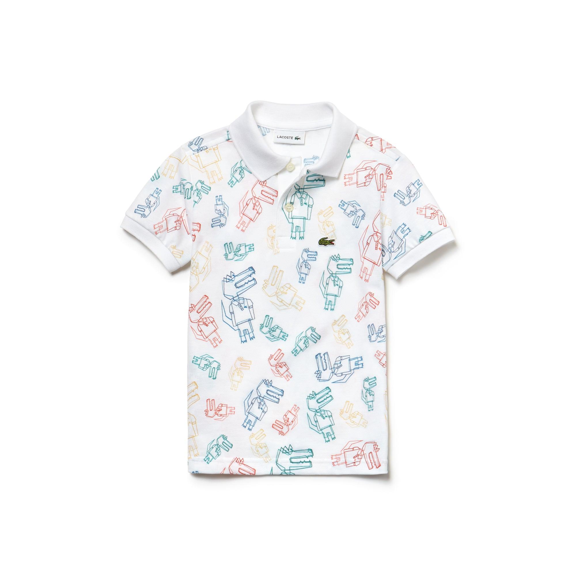 Boys' Print Mini Piqué Polo