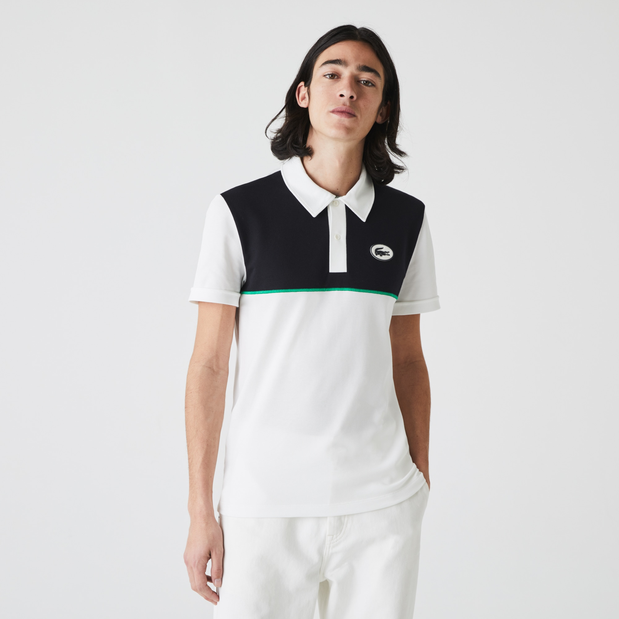 라코스테 맨 헤리티지 스트레치 폴로 Lacoste Men's Heritage Slim Fit Stretch Cotton Polo