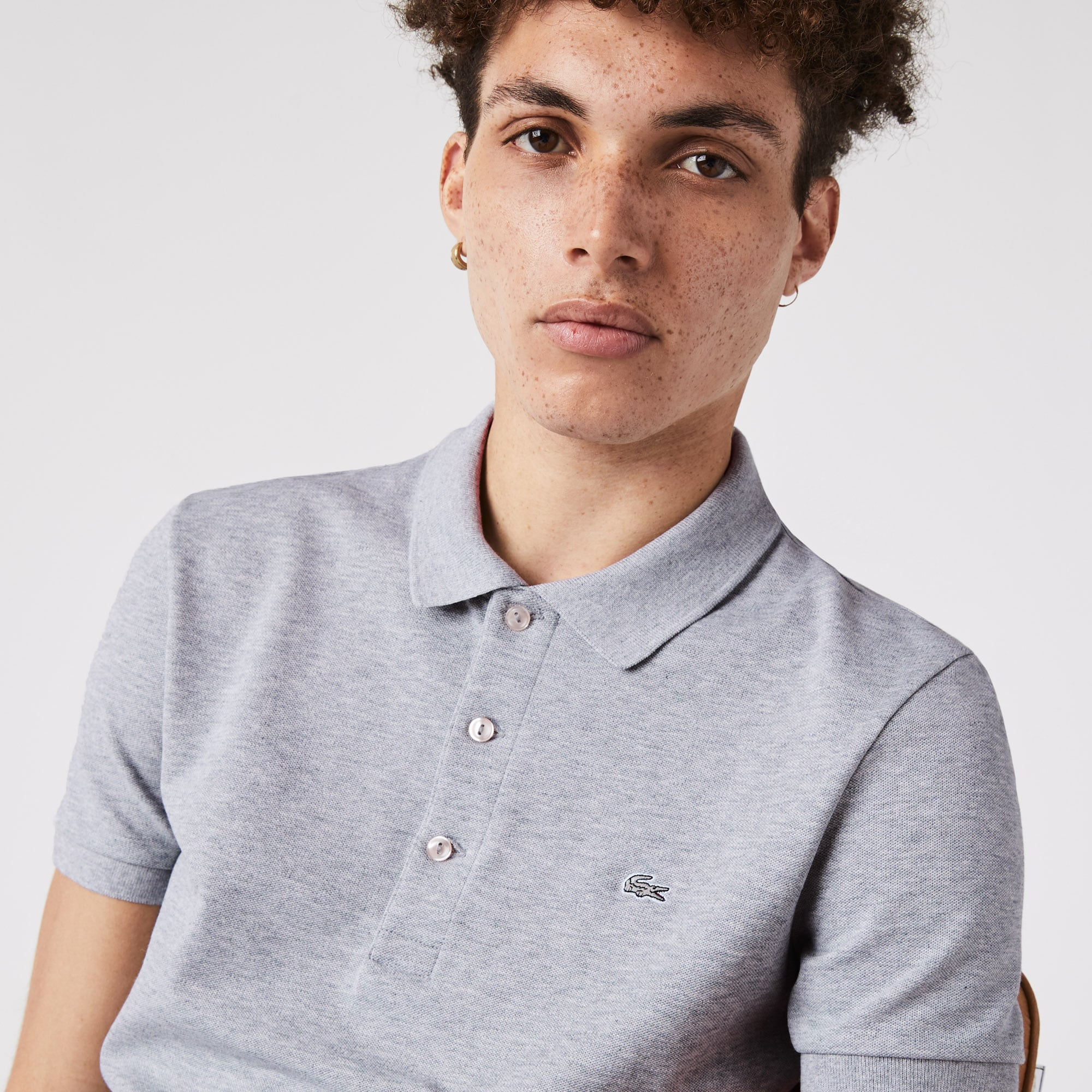 Men's Slim fit  Polo Shirt in stretch petit piqué