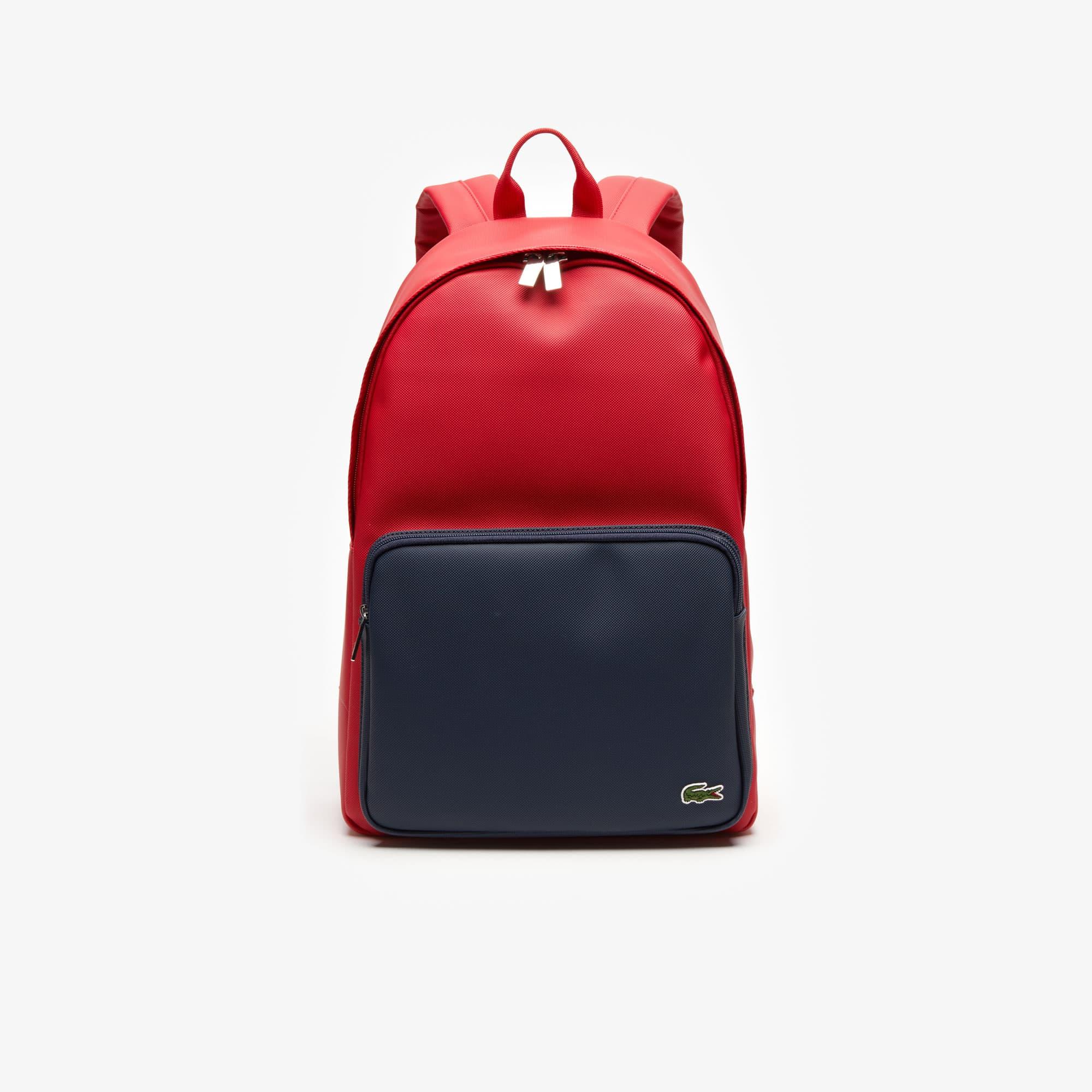 라코스테 두 컬러 백팩 Lacoste Mens Bicolor Backpack,TANGO RED