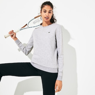 라코스테 우먼 스포츠 테니스 스웻셔츠 - 그레이 Lacoste Womens SPORT Tennis Cotton Fleece Sweatshirt,Grey Chine - CCA
