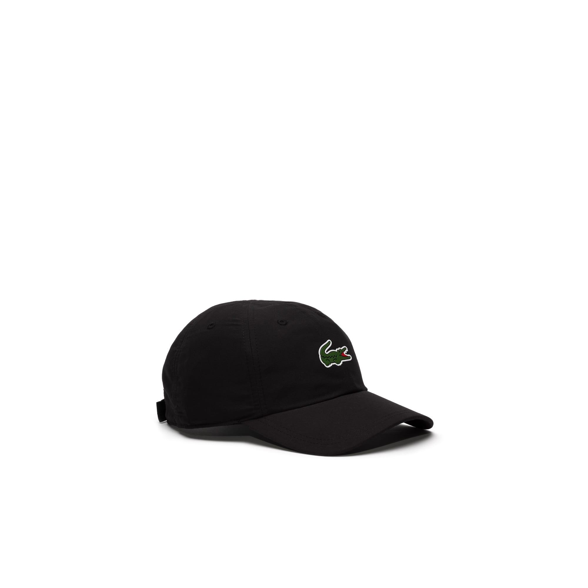 라코스테 Lacoste Mens SPORT Tennis Microfiber Crocodile Cap,black