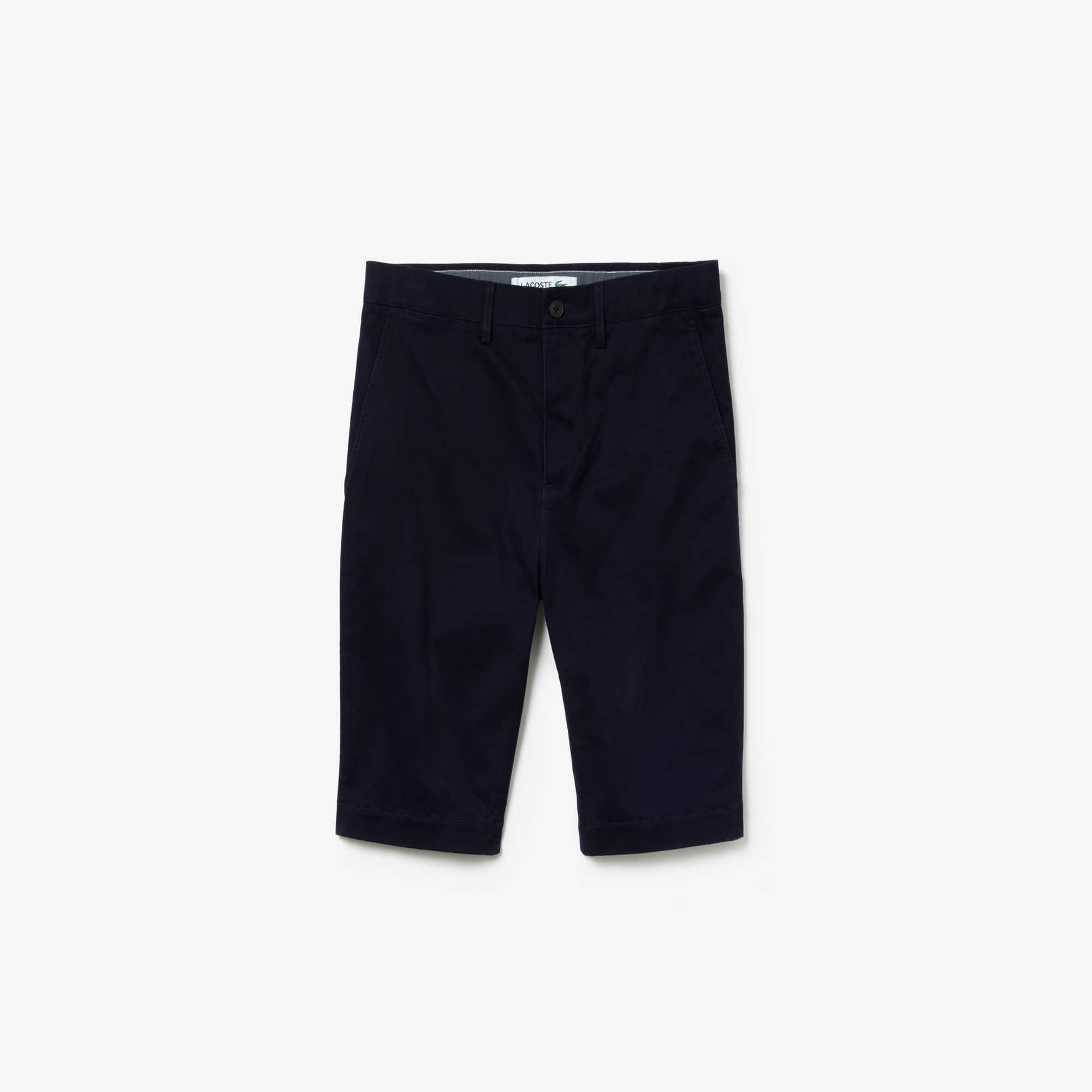 라코스테 Lacoste Mens Slim Fit Stretch Gabardine Bermuda Shorts,navy blue
