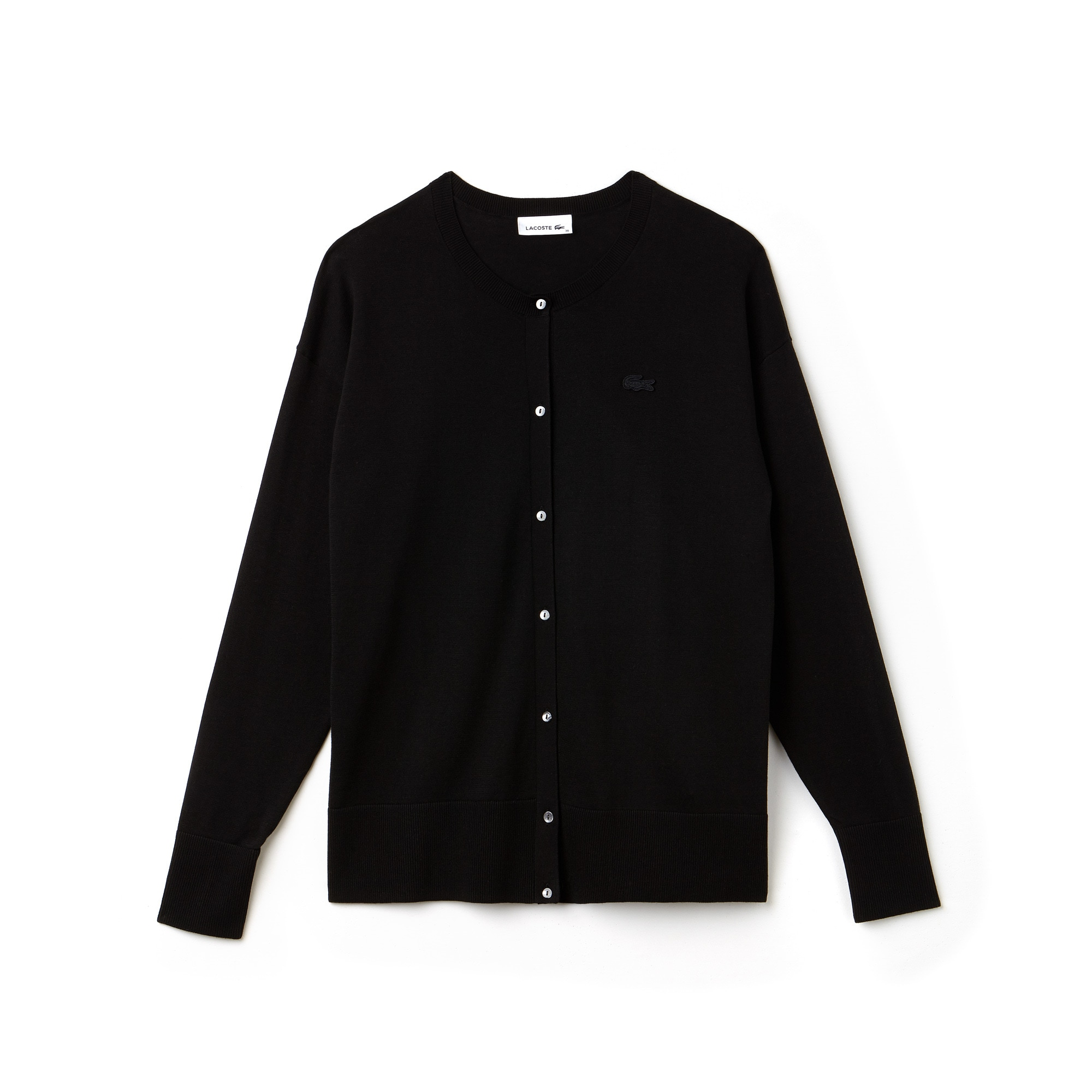 Women's High Neck Cotton Jersey Cardigan