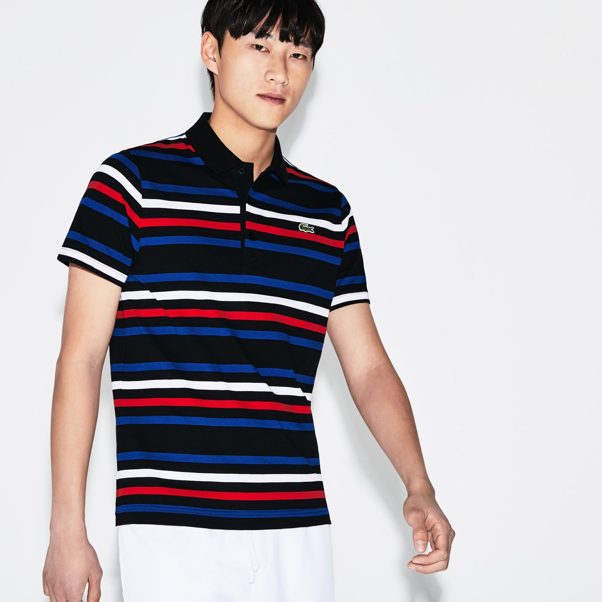 Men's SPORT Striped Ultra-Light Cotton Tennis Polo