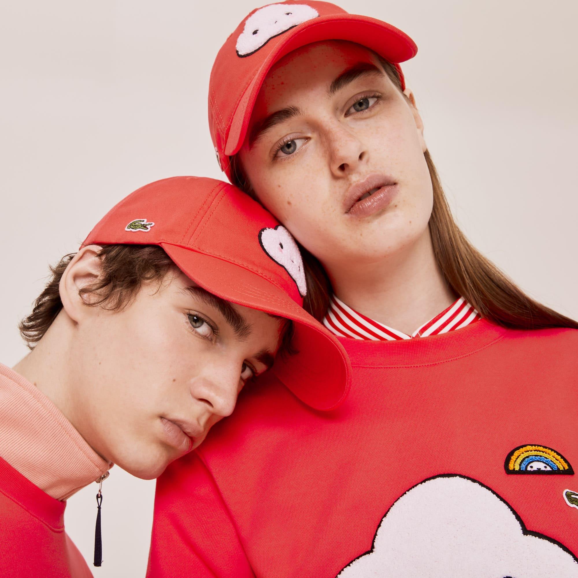 라코스테 x 프렌즈 위드유 콜라보 모자 Lacoste x FriendsWithYou Cotton Print Cap,Red - 4BY