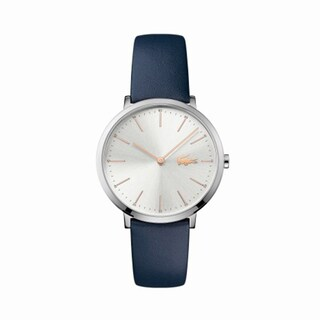 Women's Moon Blue Leather Strap Watch