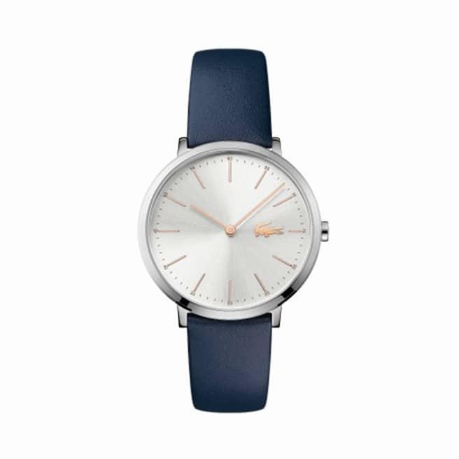 Women's Moon Blue Leather Strap Watch