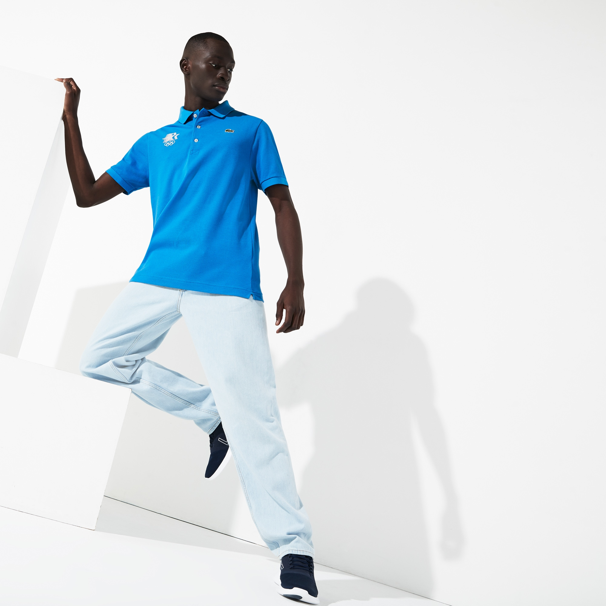 Lacoste Tops MEN'S OLYMPIC HERITAGE COLLECTION LOGO COTTON POLO