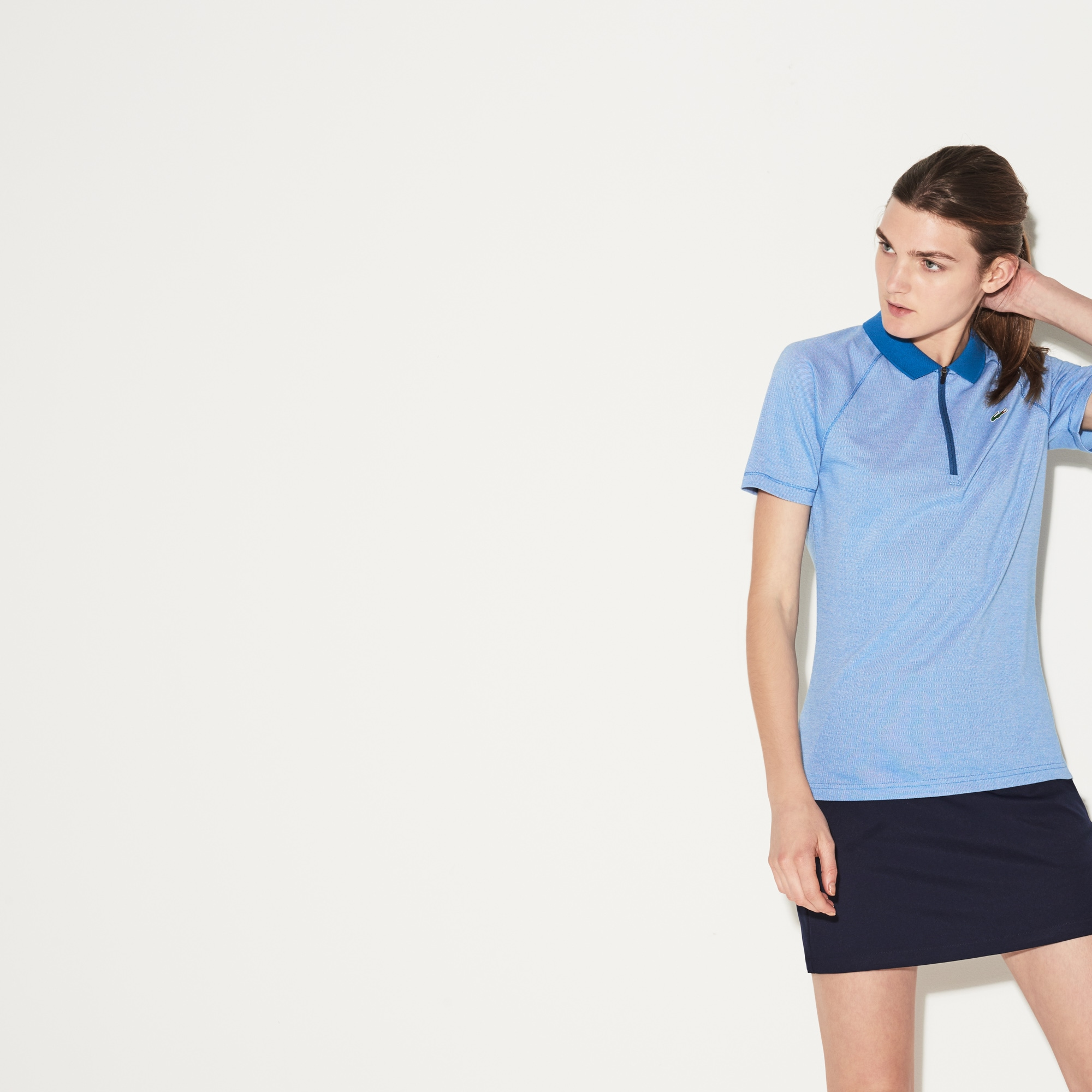 Women's SPORT Zip Neck Golf Polo