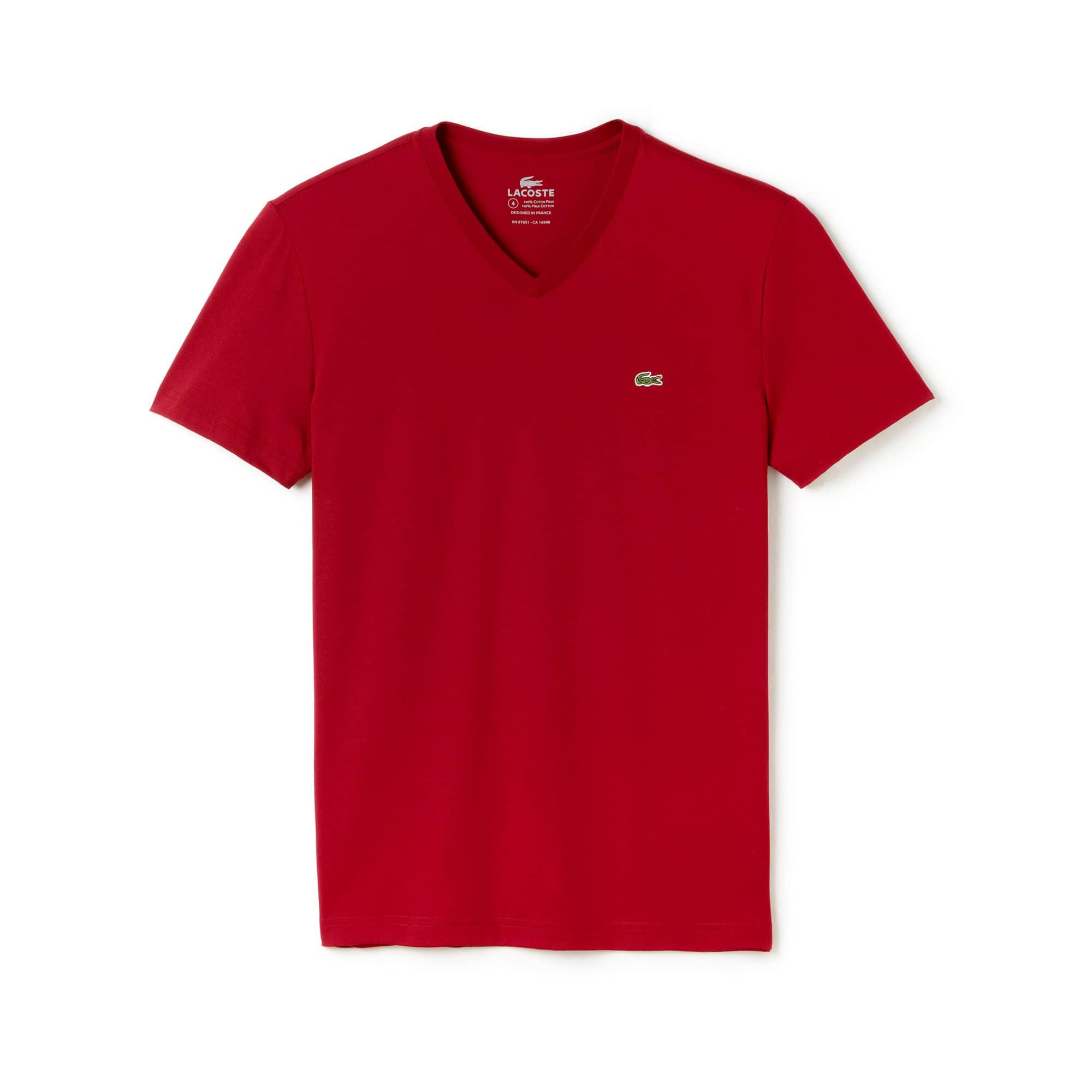 Men's V-Neck Pima Jersey T-Shirt