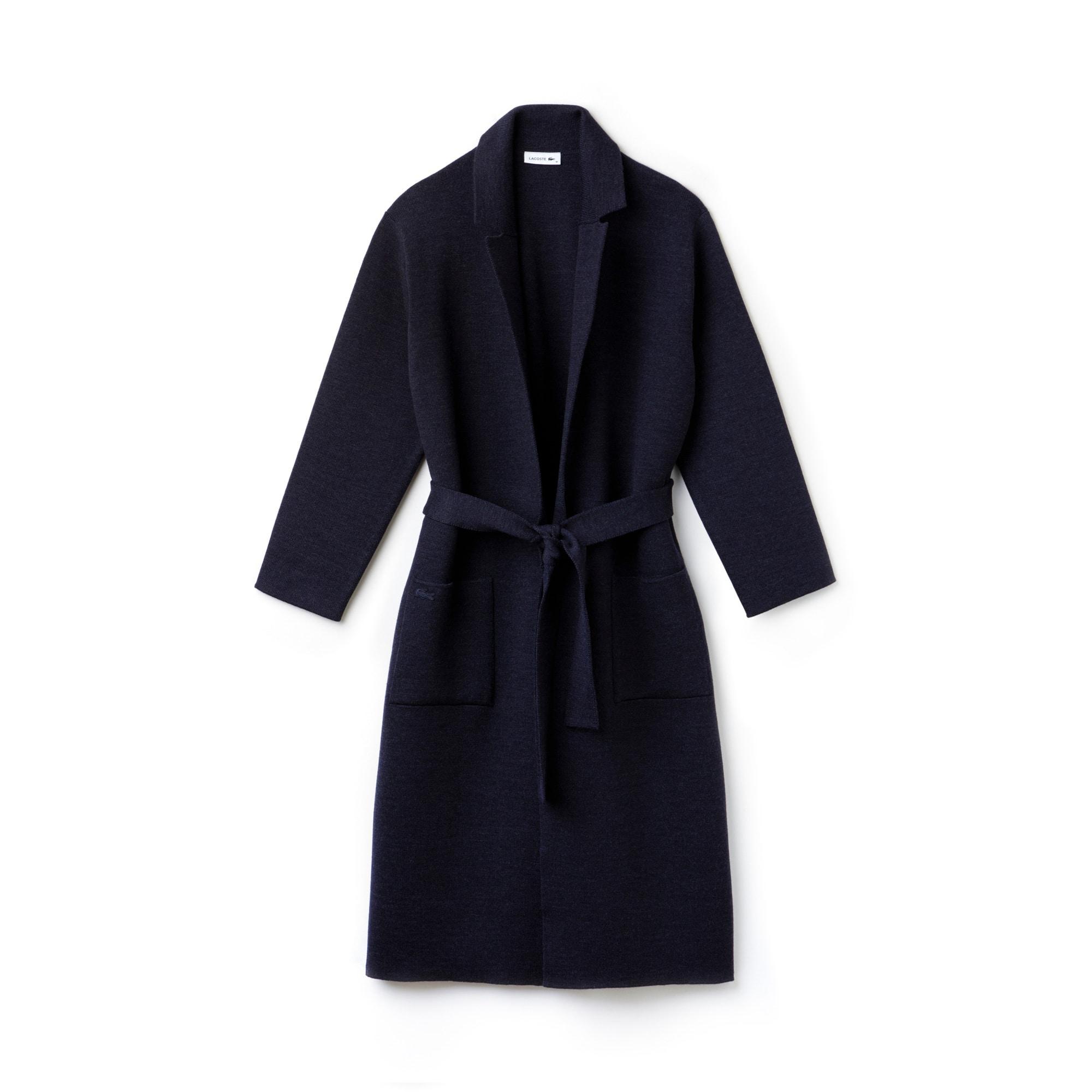 Women's Long Belted Wool Coat