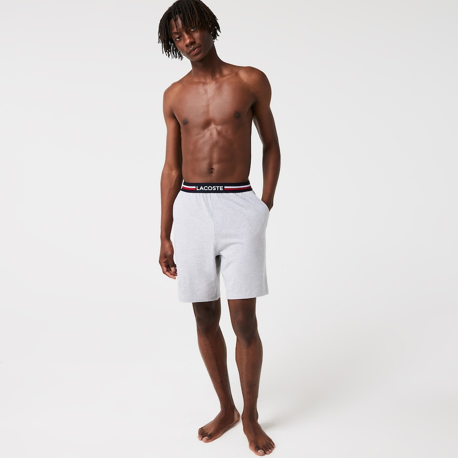 Men's Striped-Waist Long Boxer Briefs