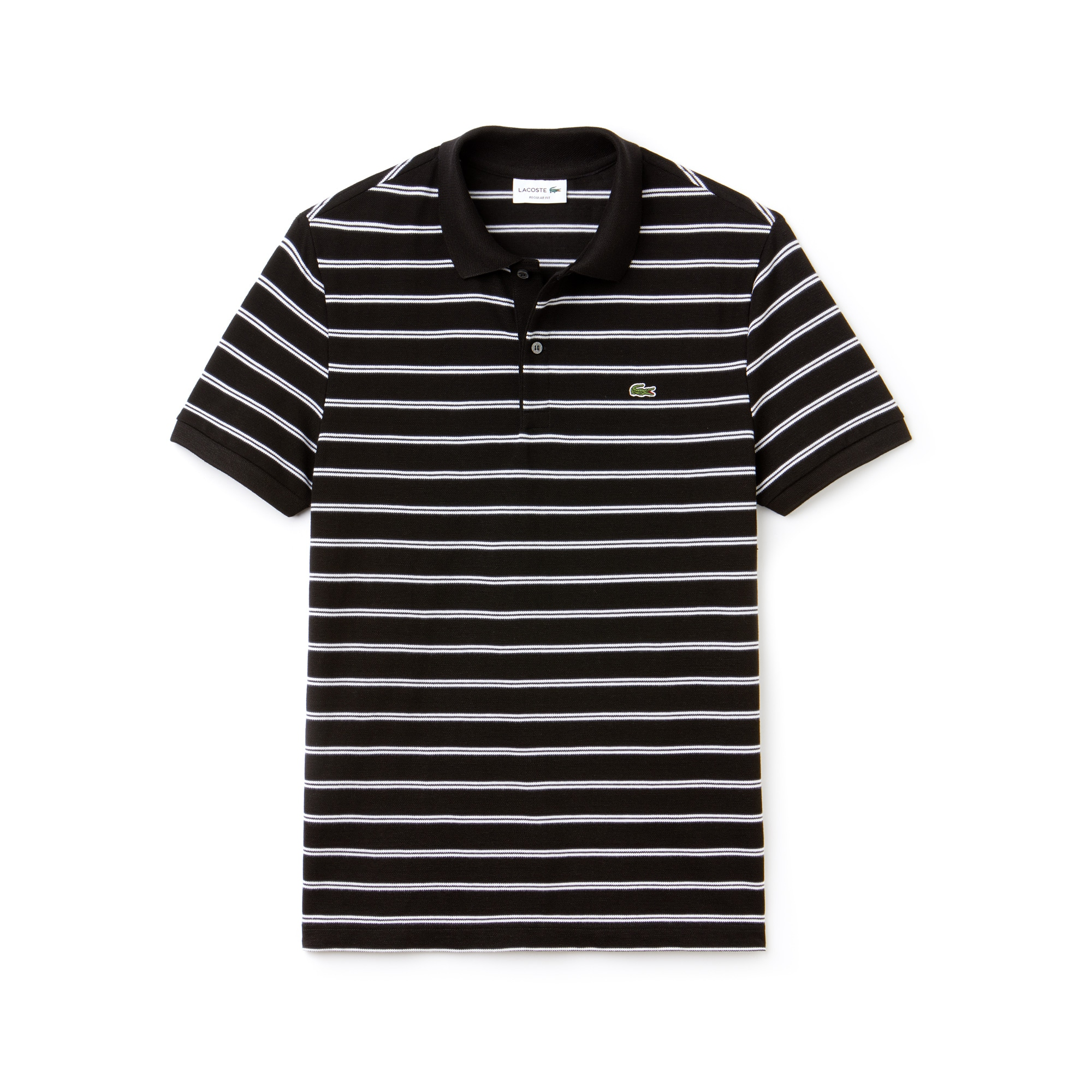 Men's Regular Fit Striped Piqué Polo
