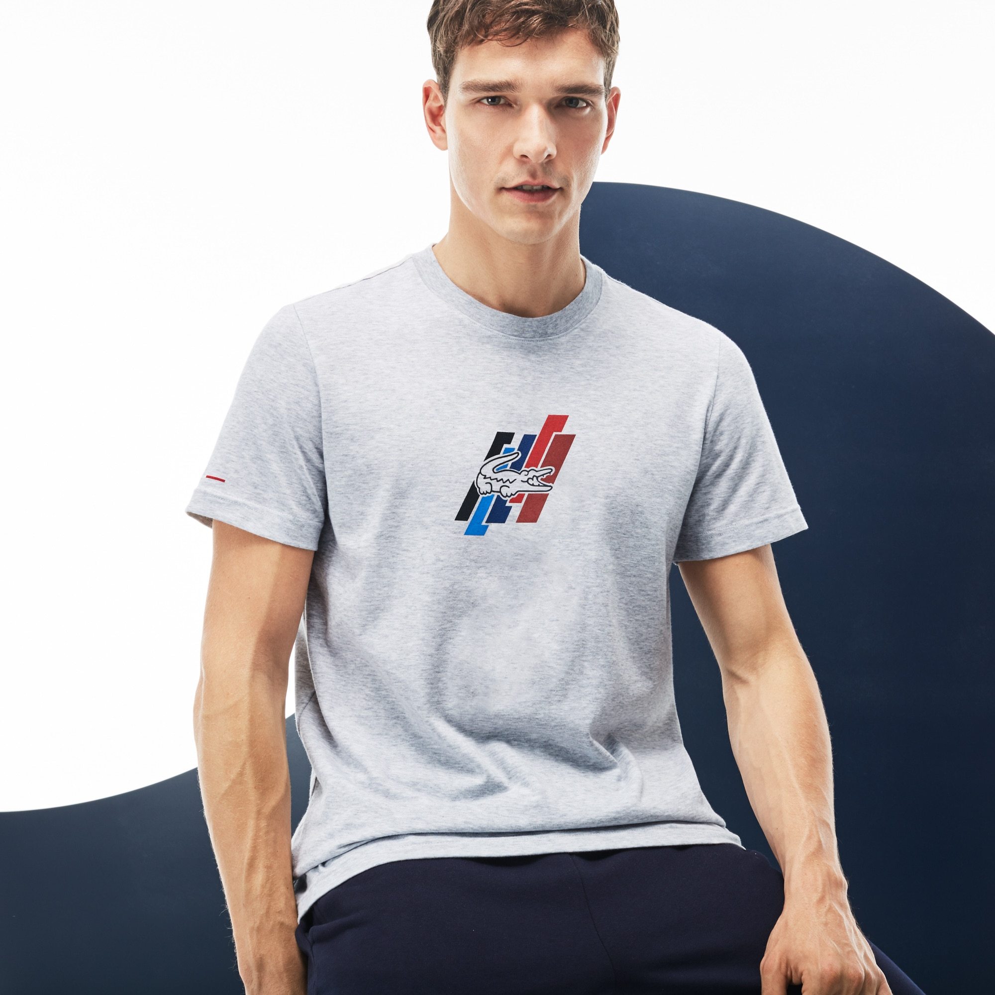 Men's Tricolor Collection Crew Neck Jersey T-shirt