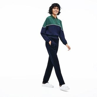 라코스테 바지 Lacoste Womens High Waisted Fashion Sweatpants,Navy Blue