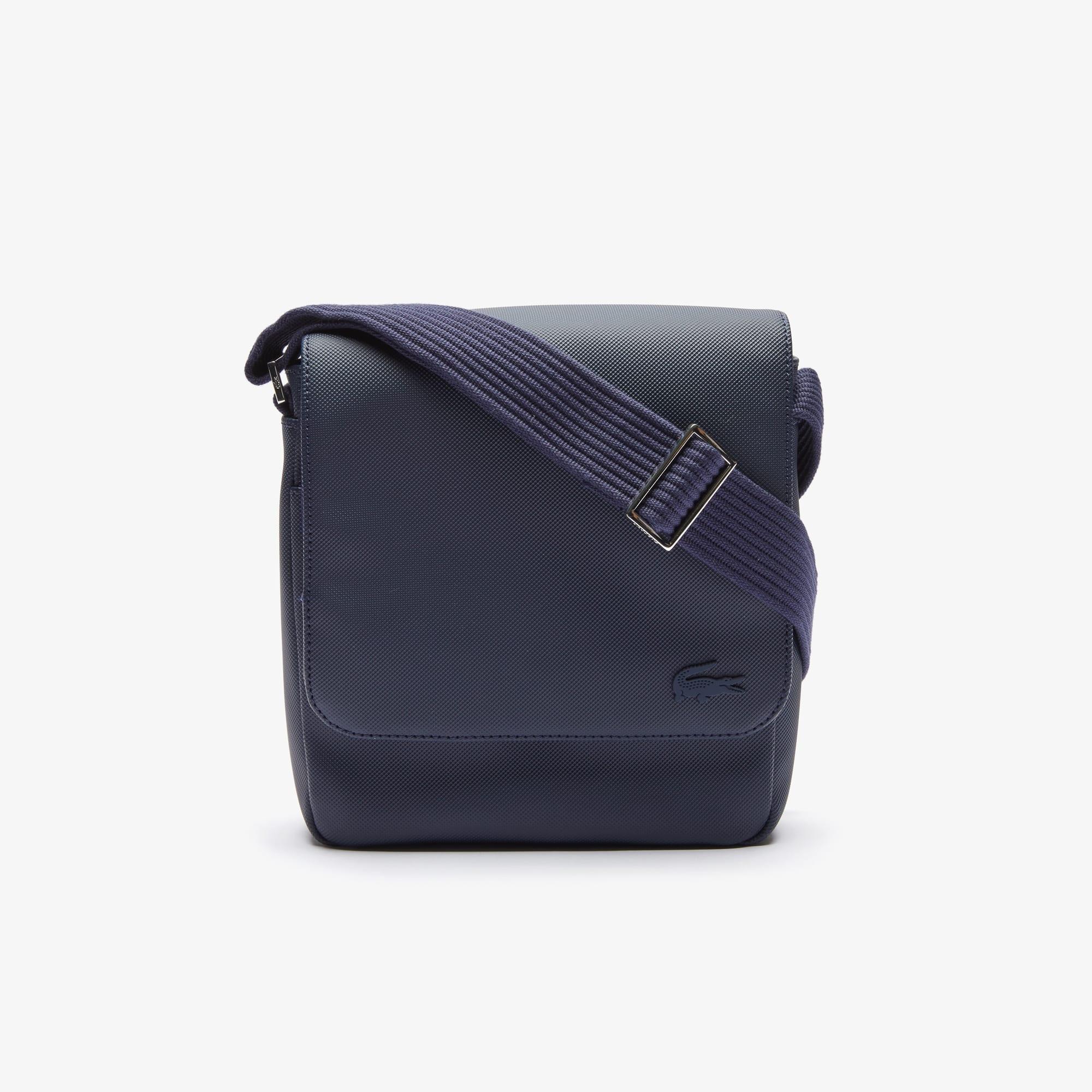 라코스테 Lacoste Mens Classic Petit Pique Flap Bag,021 021
