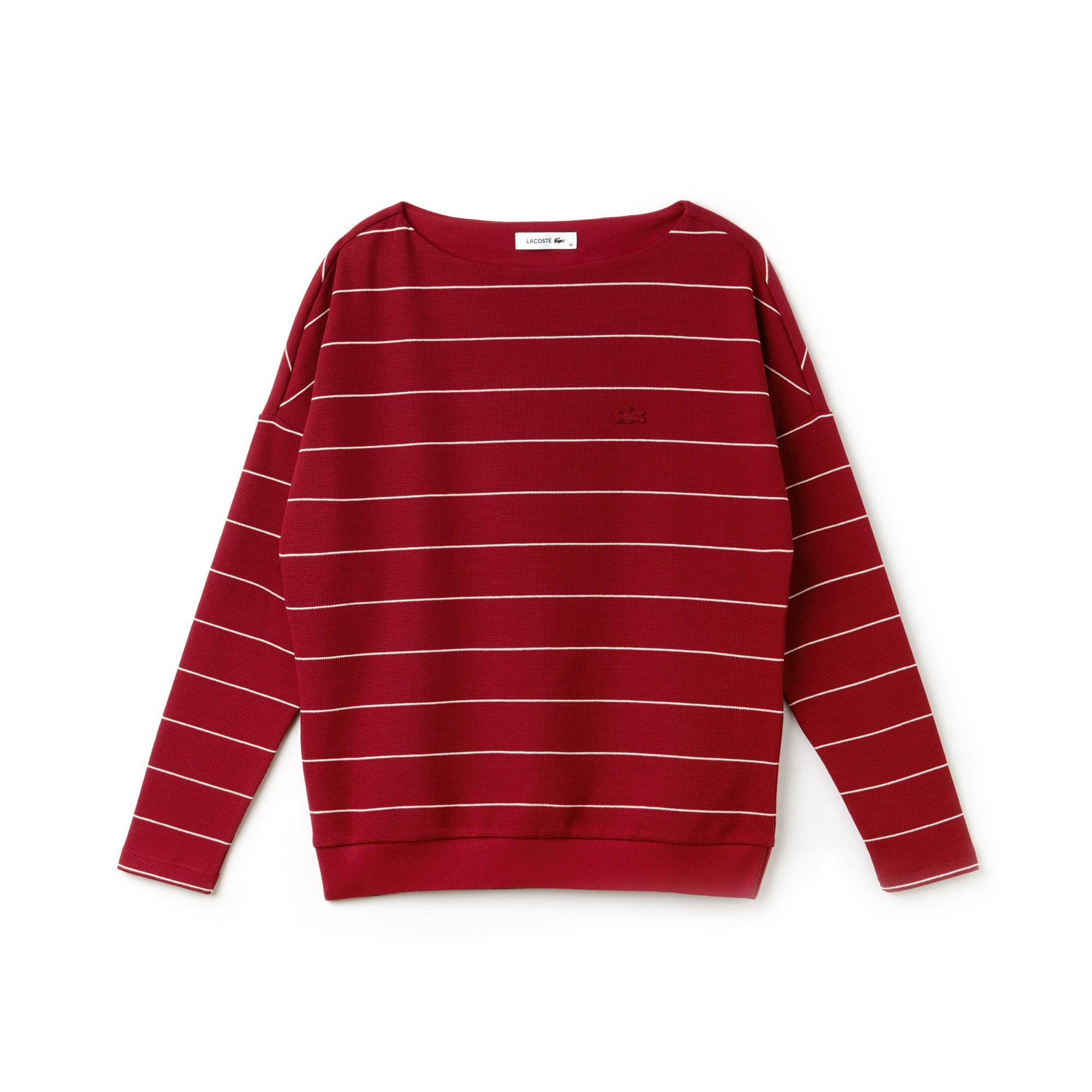 Women's Boat Neck Honeycomb Sweatshirt