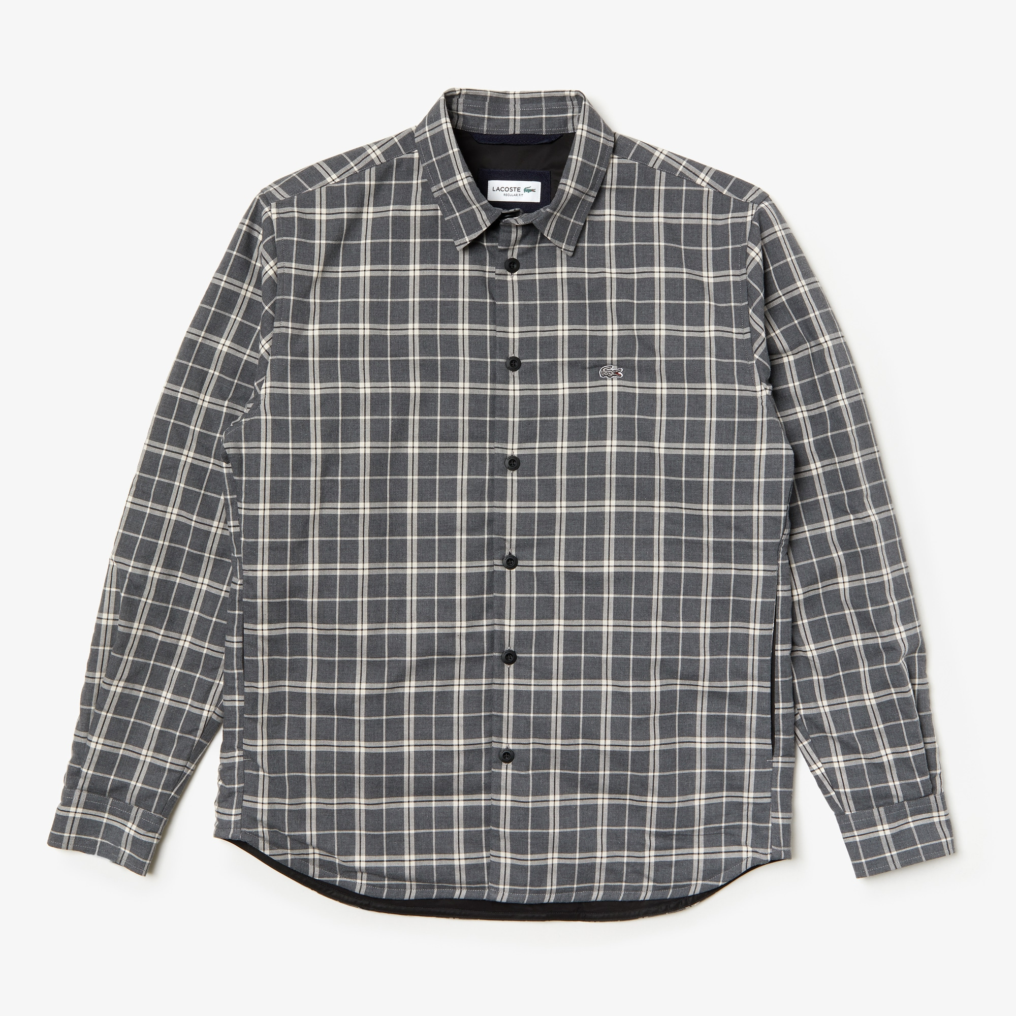 Men's Boxy Fit Quilted-Sleeve Plaid Cotton Shirt