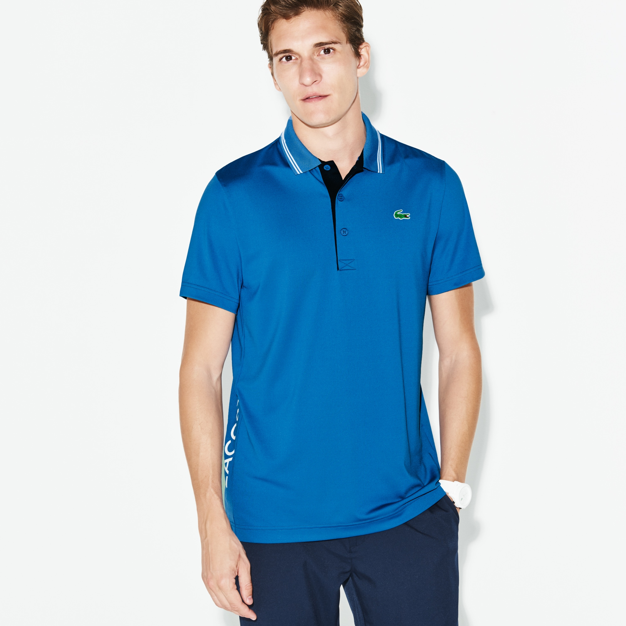 Men's SPORT Lettering Stretch Technical Jersey Golf Polo