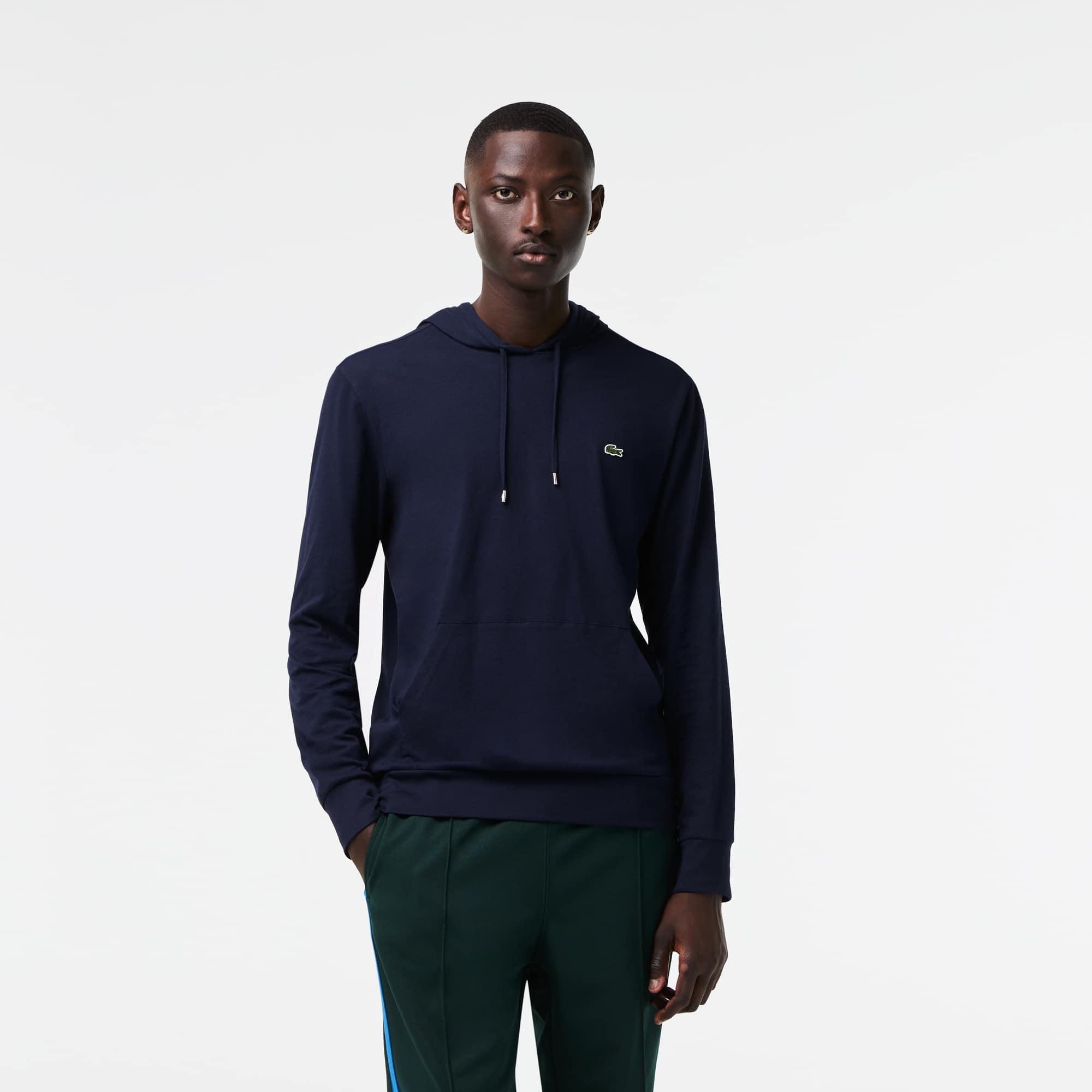 라코스테 Lacoste Men's Hooded Cotton T-shirt
