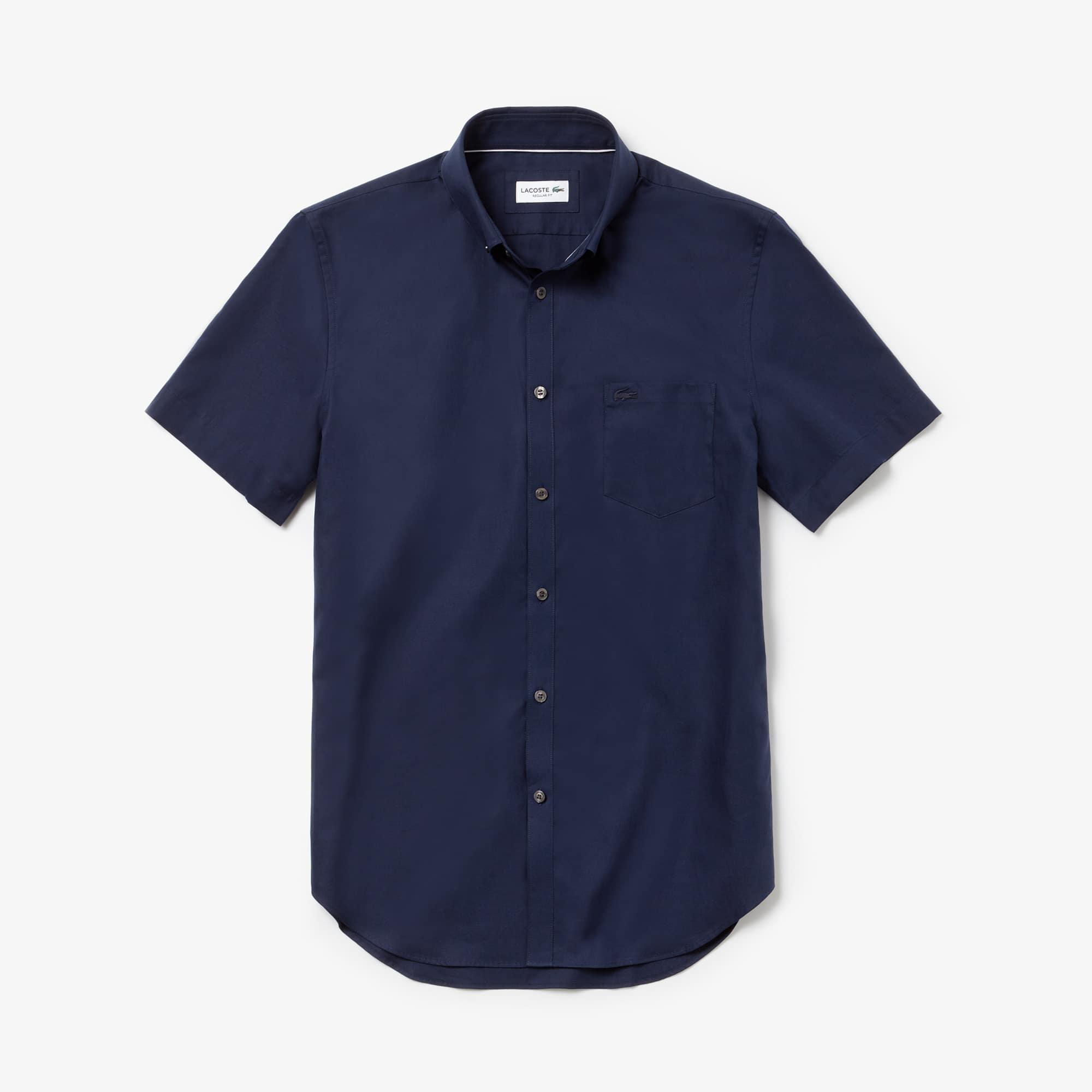 라코스테 Lacoste Mens Regular Fit Mini Pique Shirt,navy blue / navy blue