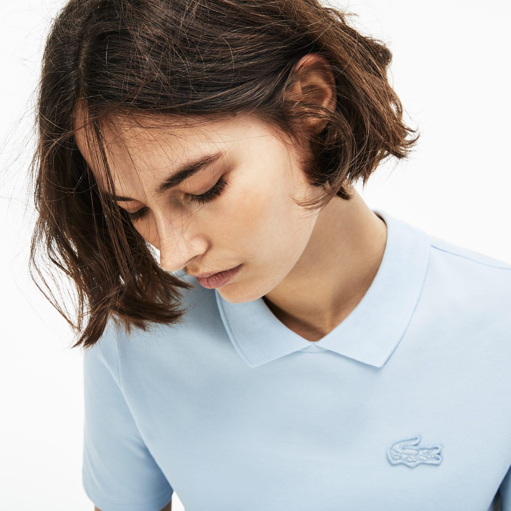 Women's  LIVE Teardrop Opening Mini Piqué Polo Shirt