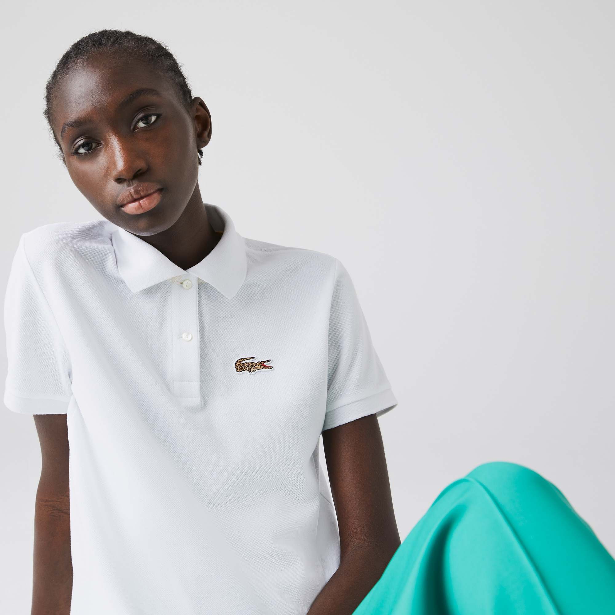 Women's Lacoste x National Geographic Cotton Pique Polo Shirt