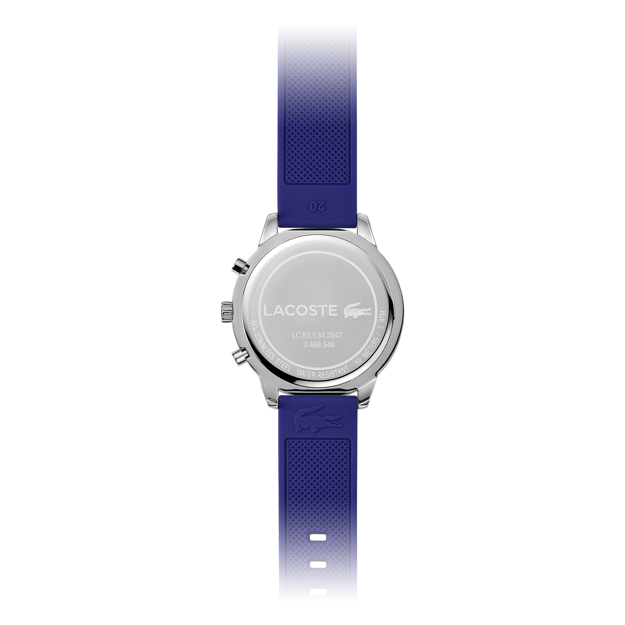 Mens Key West Watch with Blue Silicone Strap
