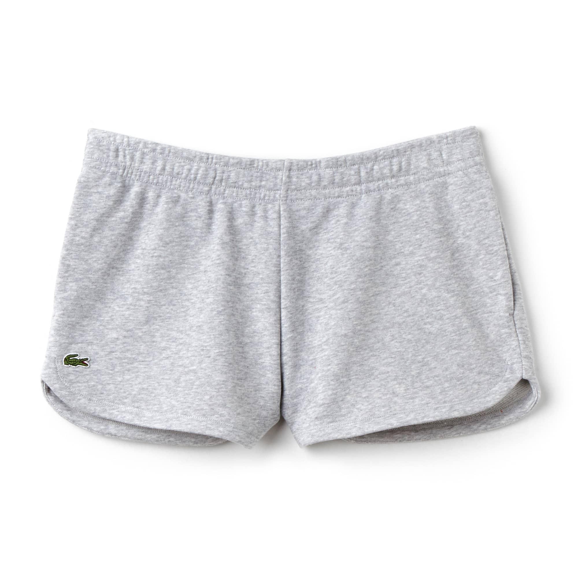 라코스테 Lacoste Womens SPORT Tennis Fleece Shorts,grey chine