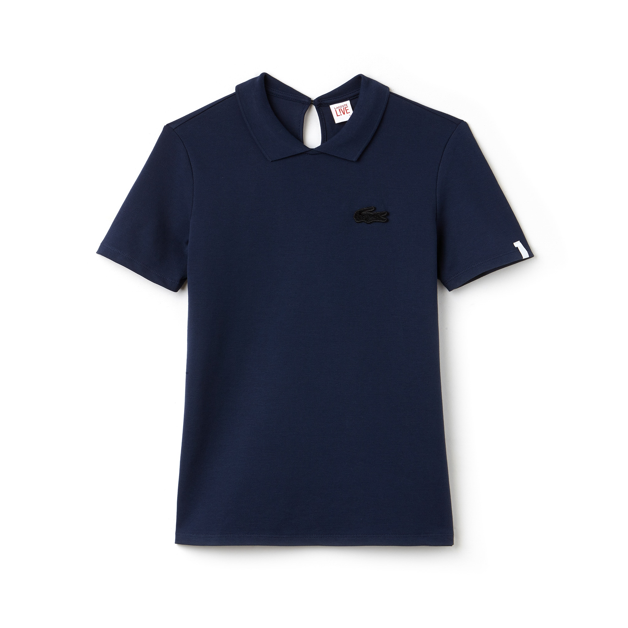 Women's  LIVE Teardrop Opening Mini Piqué Polo Shirt
