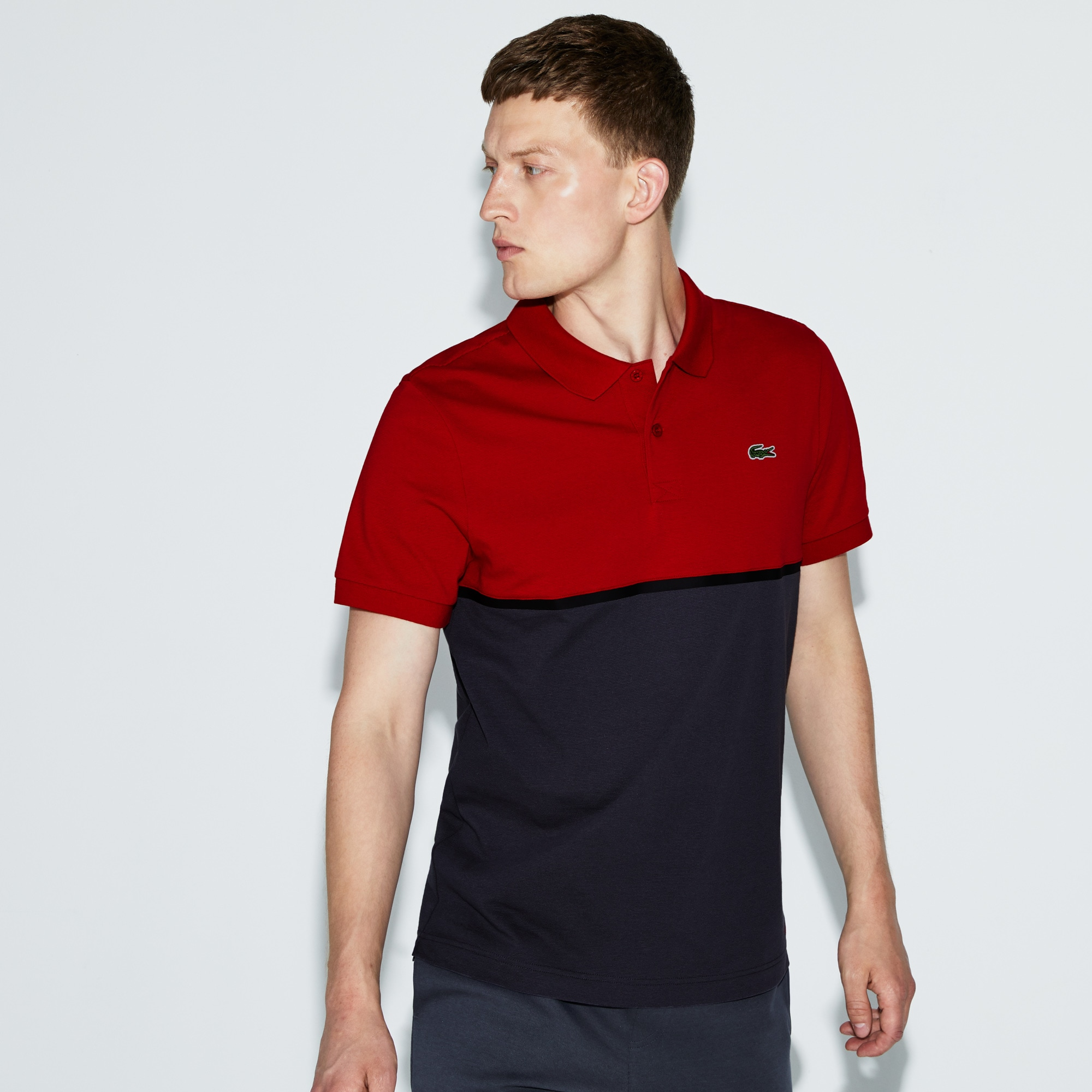 Men's SPORT Colorblock Ultra-Light Cotton Tennis Polo