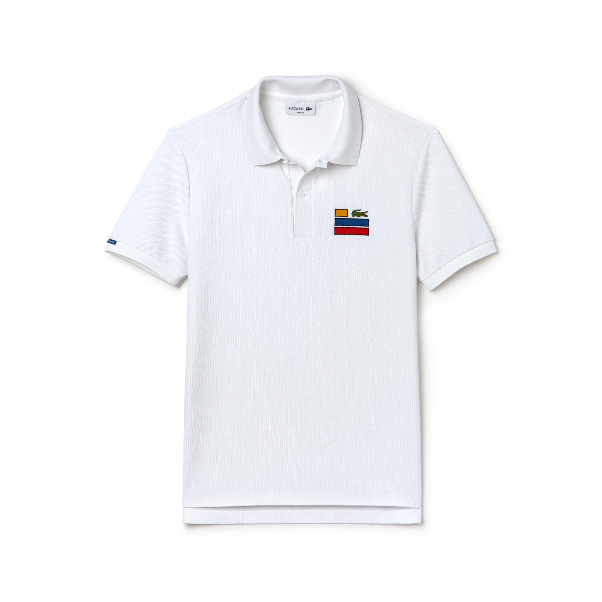 Men's Slim Fit Piqué Chest Embroidery Polo Shirt