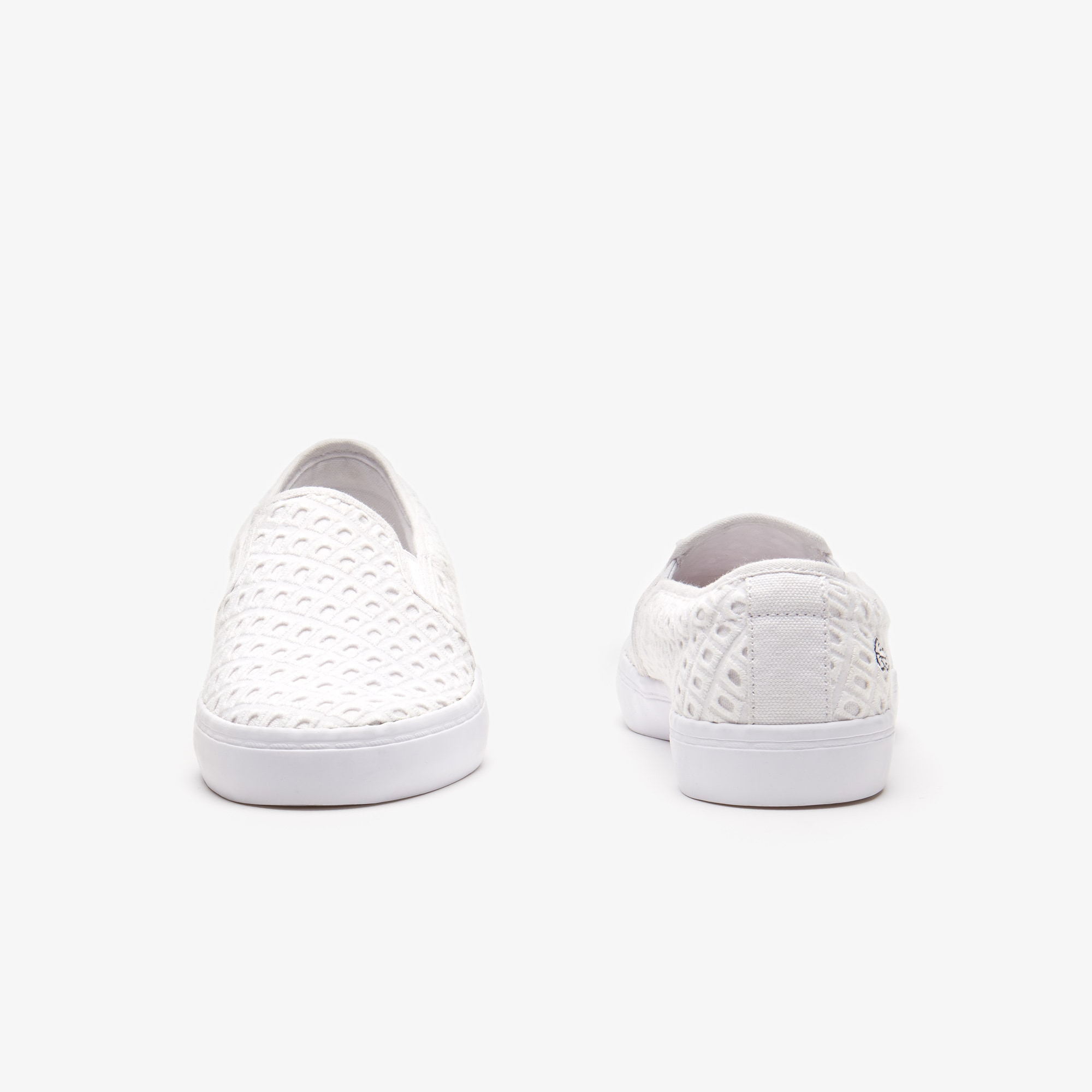 Women's Gazon Broderie Anglaise Textile Slip-ons