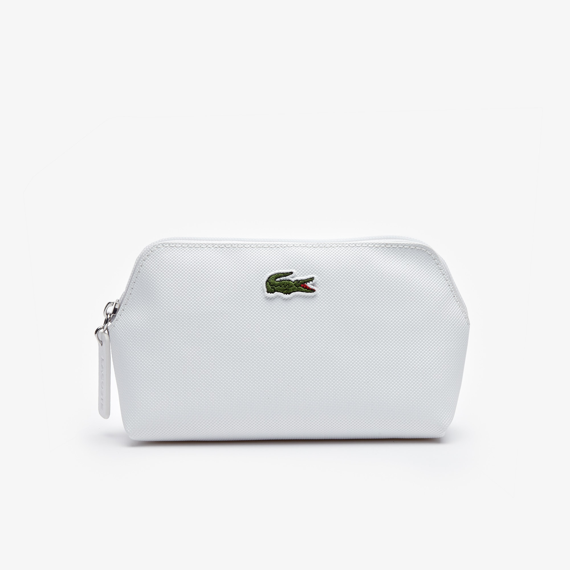 라코스테 Lacoste Womens L.12.12 Concept Petit Pique Makeup Bag,bright white