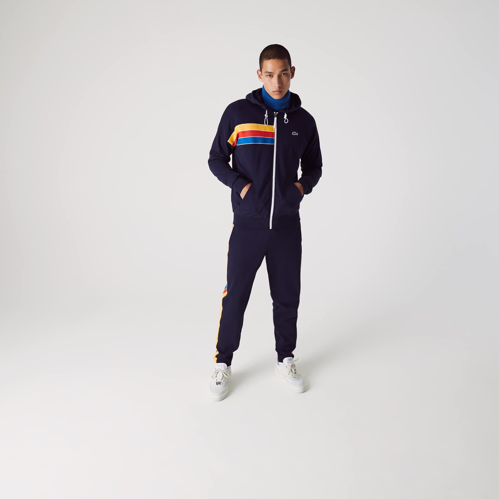 라코스테 스포츠 컬러블록 집업 후드 - 2 컬러 Lacoste Mens SPORT Hooded Colorblock Fleece Zip Sweatshirt