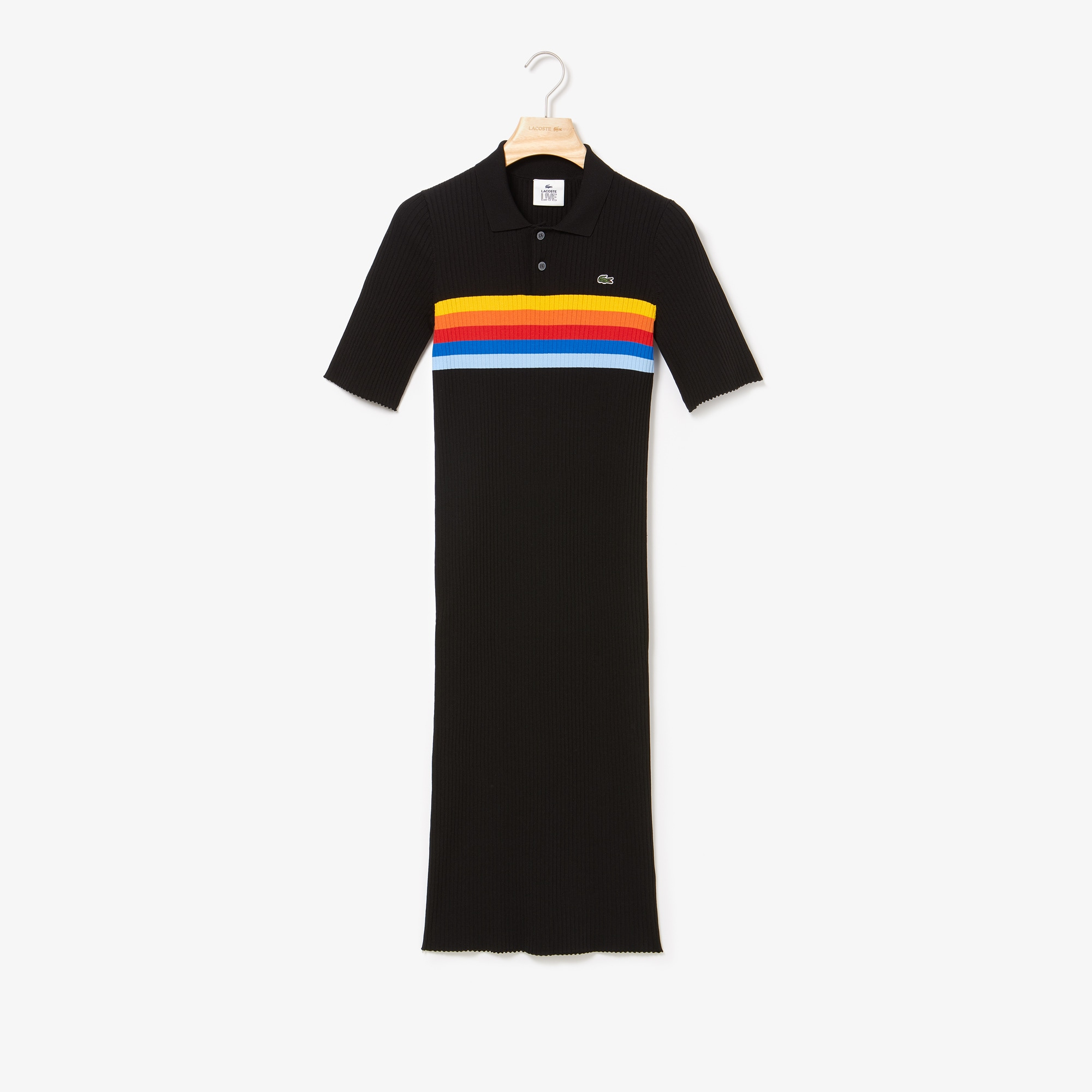 Women's LIVE Mid-Length Ribbed Polo Dress