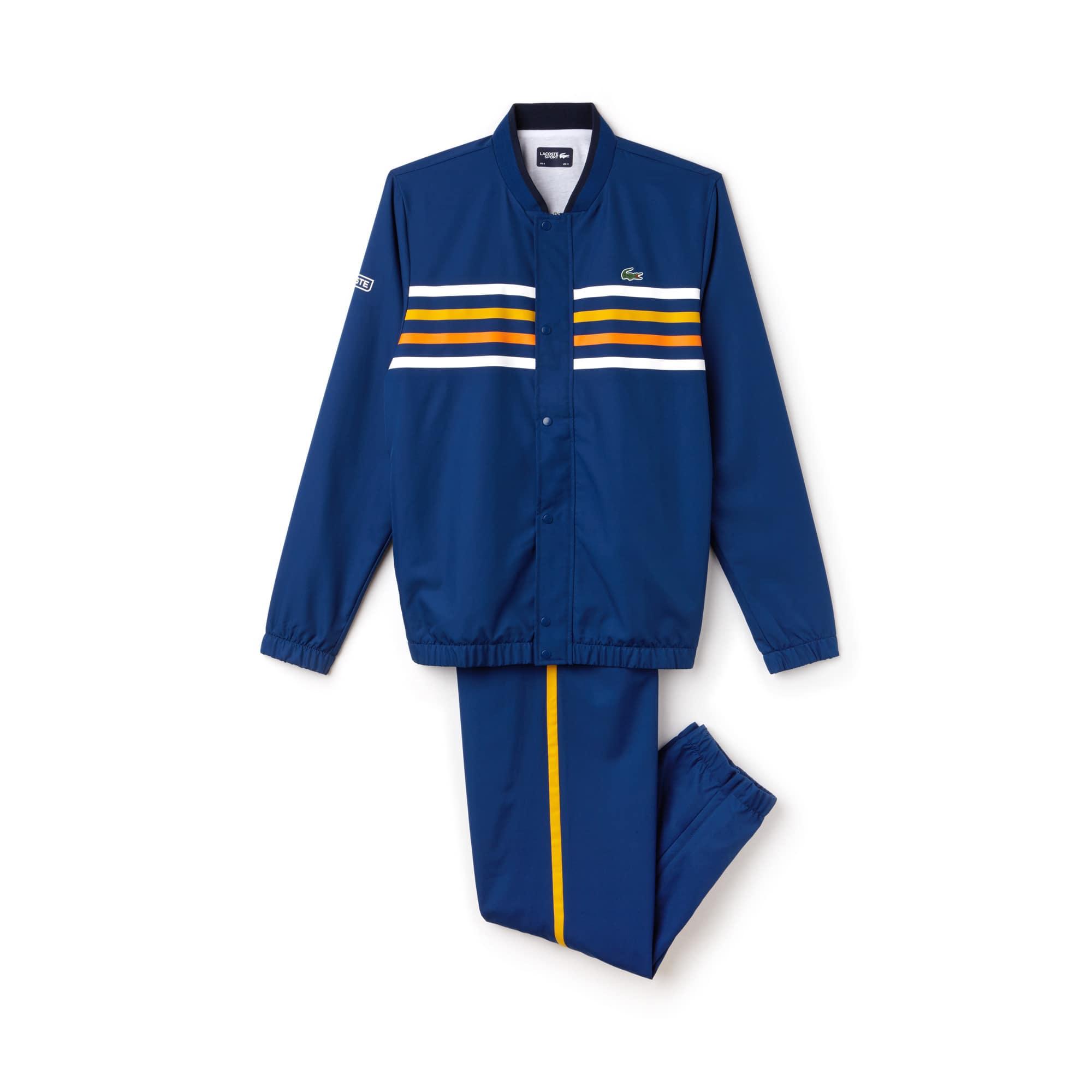 라코스테 스포츠 트랙 수트 Lacoste Mens SPORT Colored Bands Tennis Tracksuit,navy/white-buttercup-apri