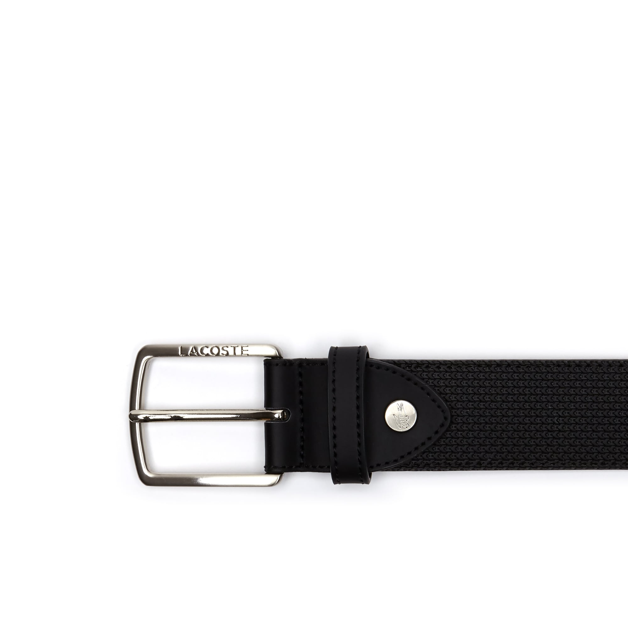 Men's Chantaco Engraved Tongue Buckle Leather Belt