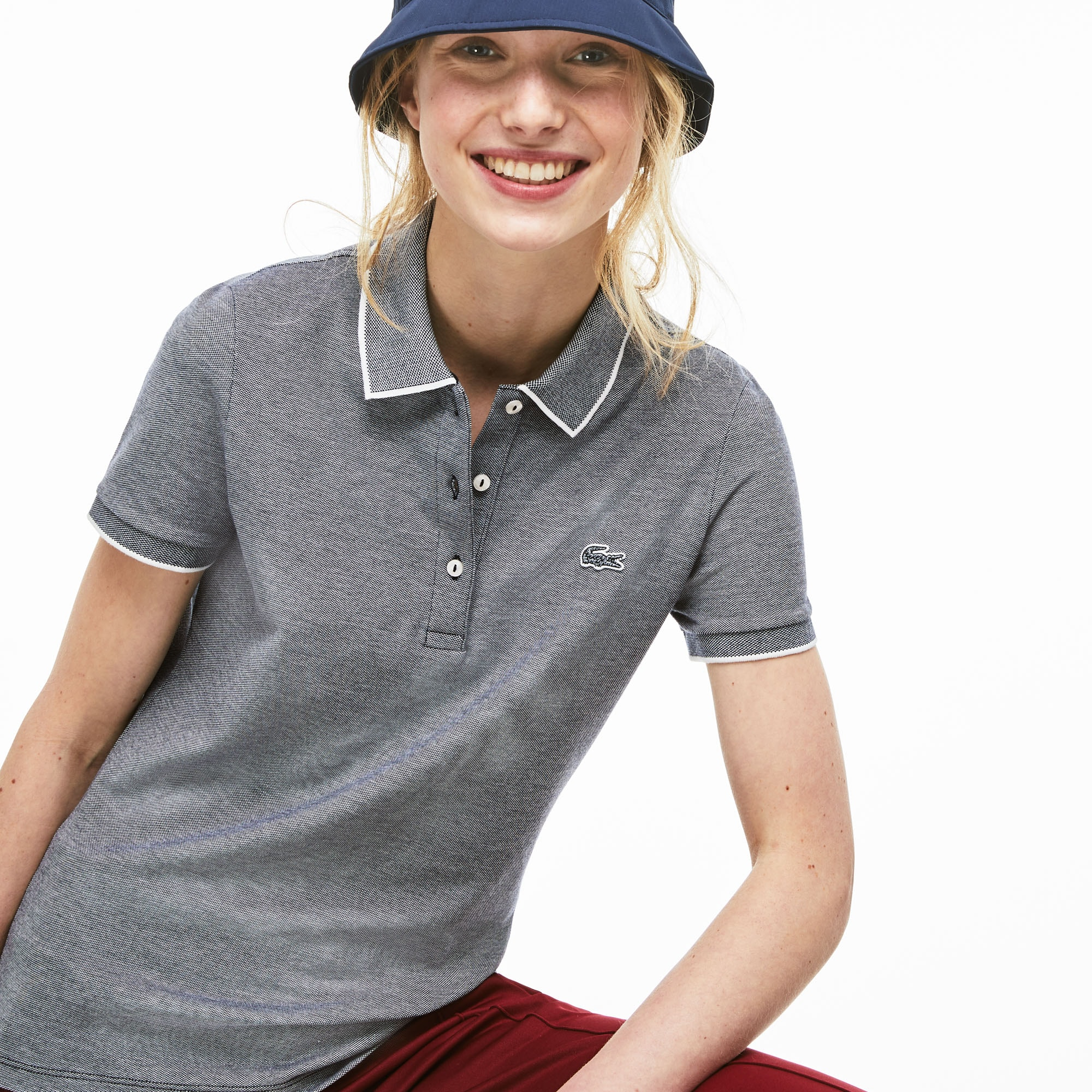 Women's Slim Fit Stretch Polo Shirt