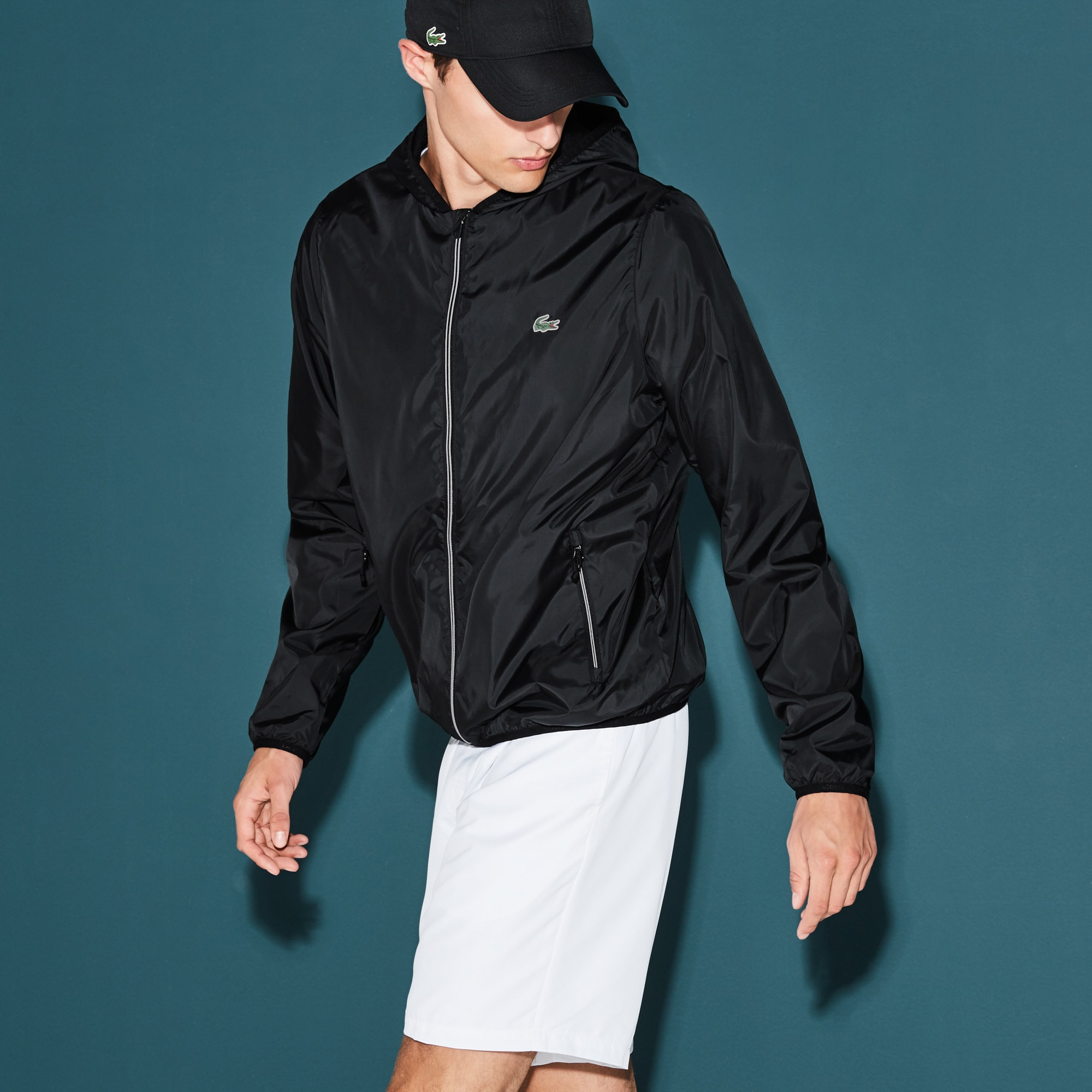 Men's  SPORT Tennis Water-Resistant Hooded Jacket